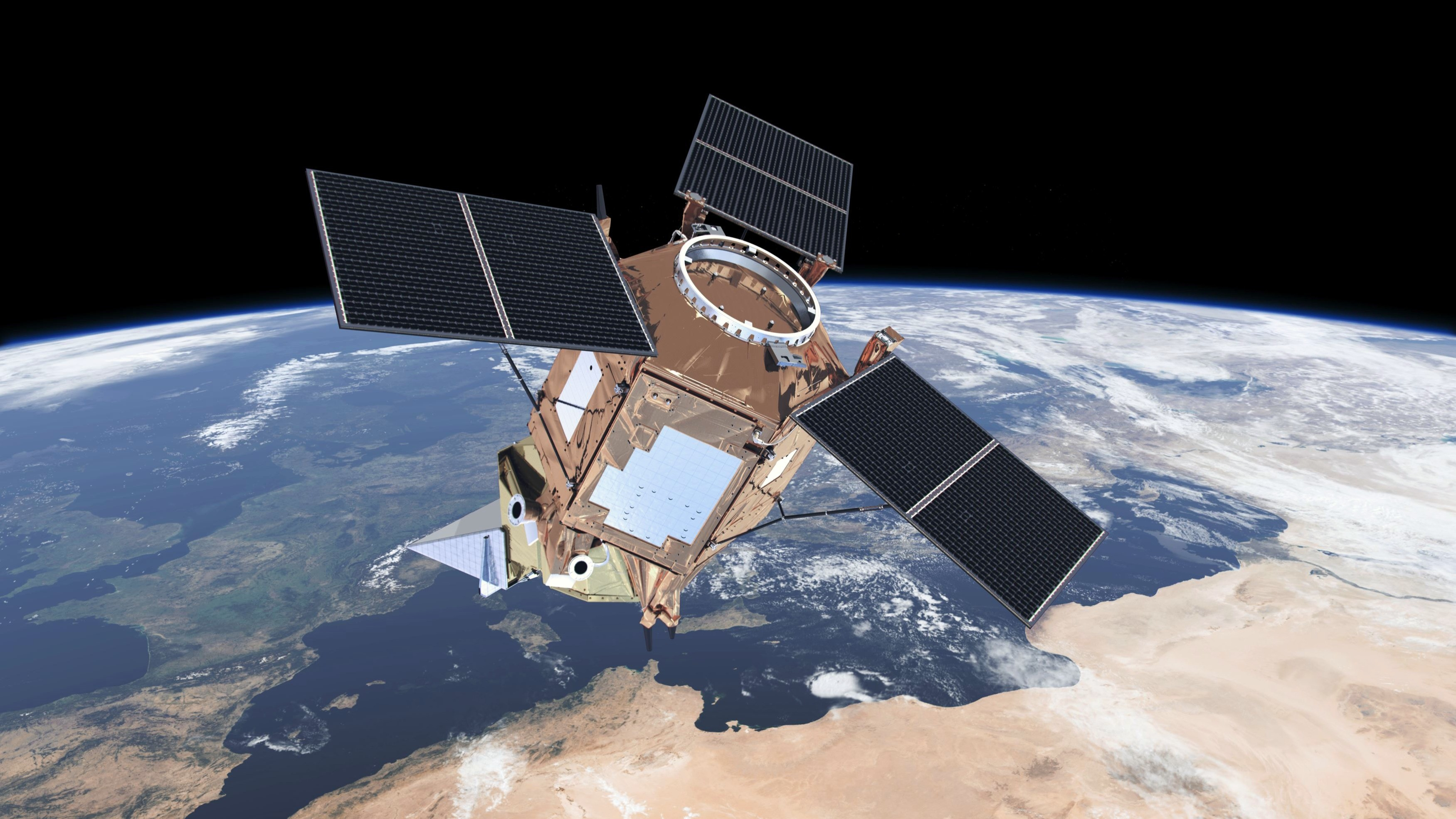 Sentinel-5P satellite in orbit
