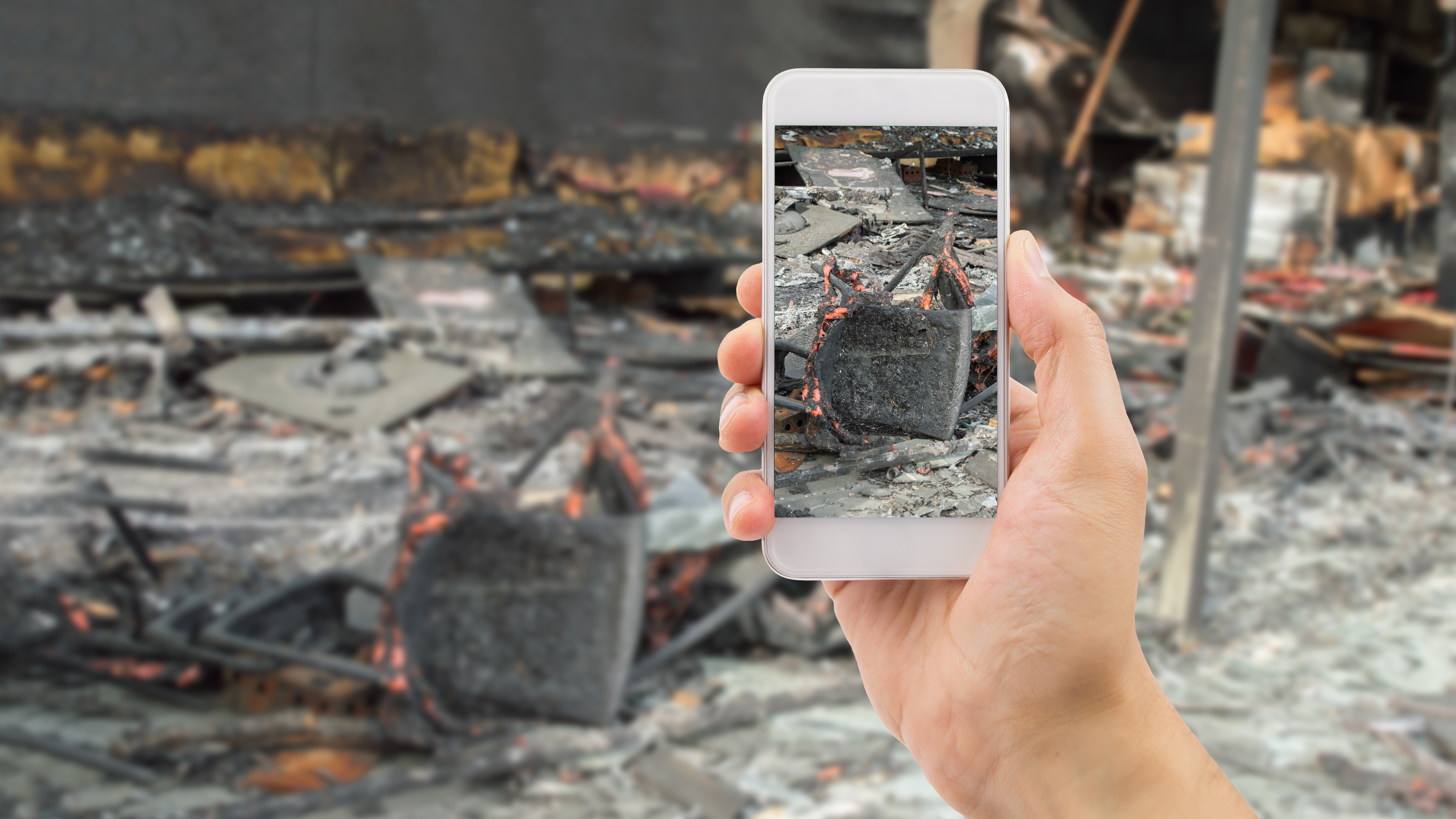sending photo to the home insurance