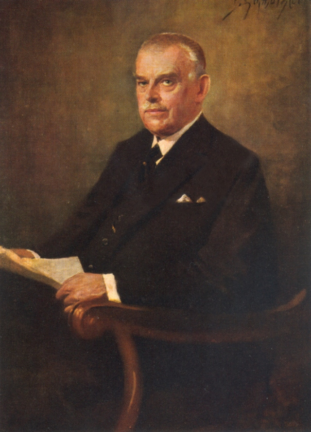 Wilhelm Kißkalt, Chairman of the Board of Management from 1922 to 1937.