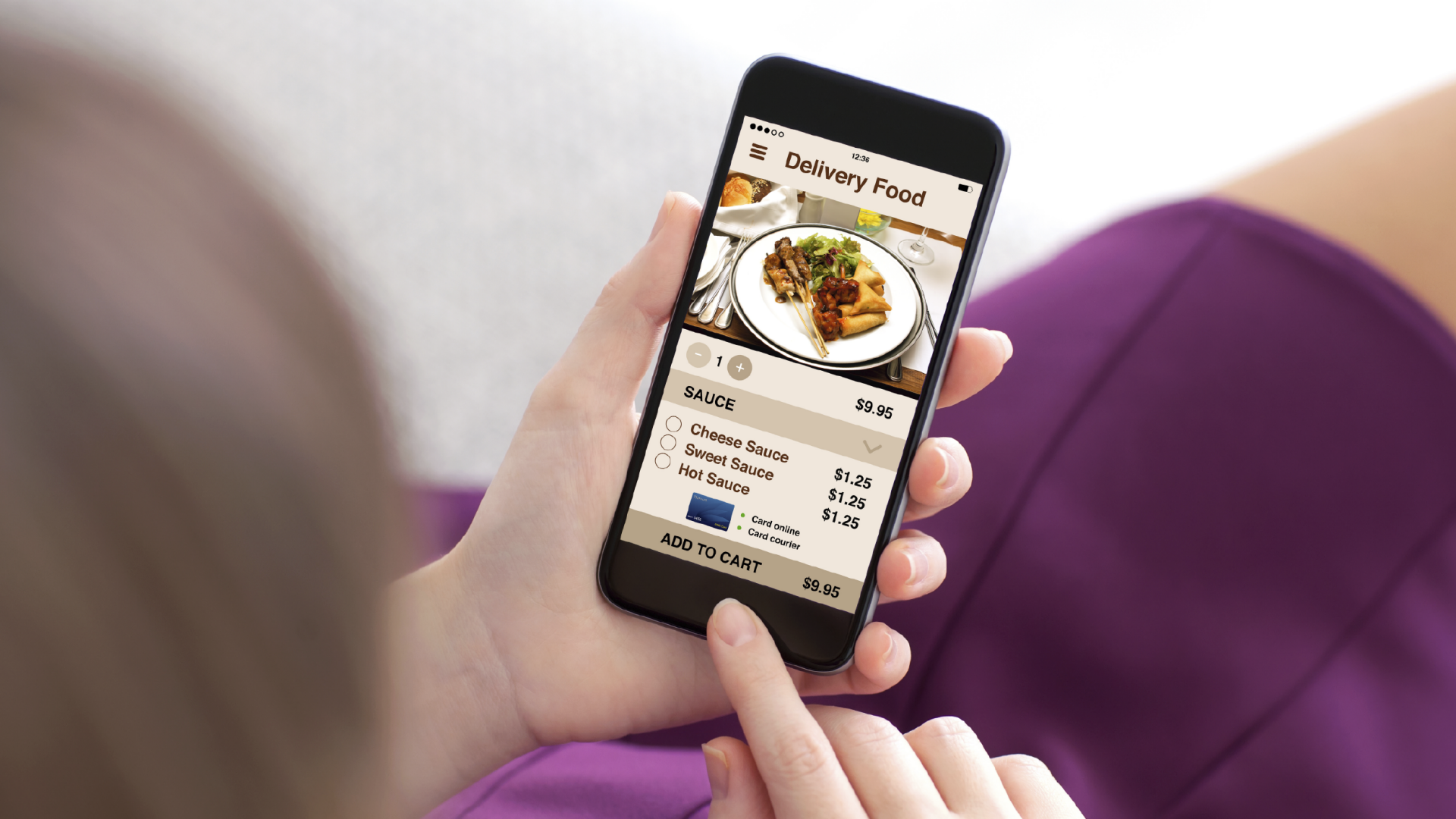 Delivery food app smartphone