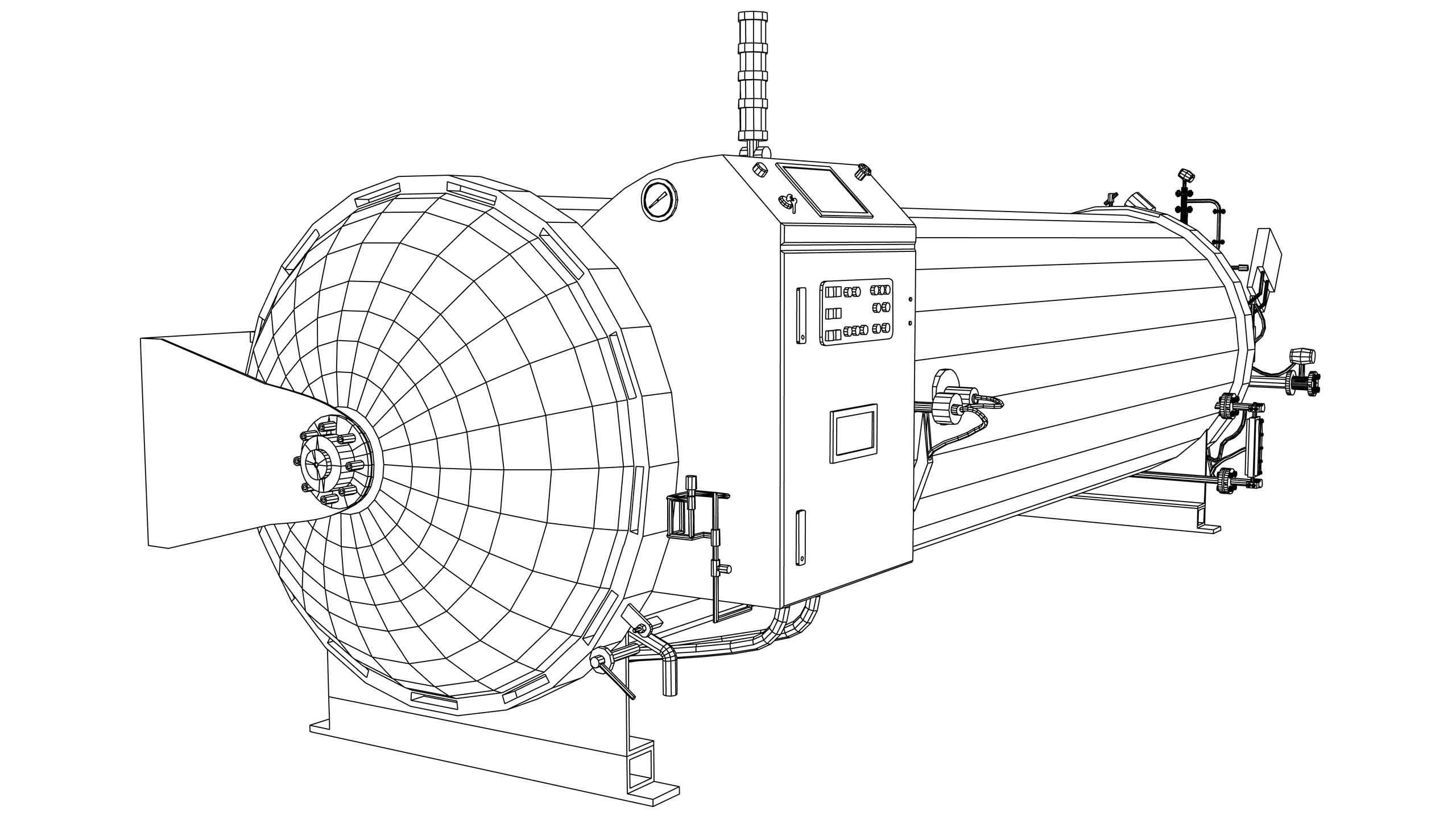 Vector Image: Autoclave - Industrial