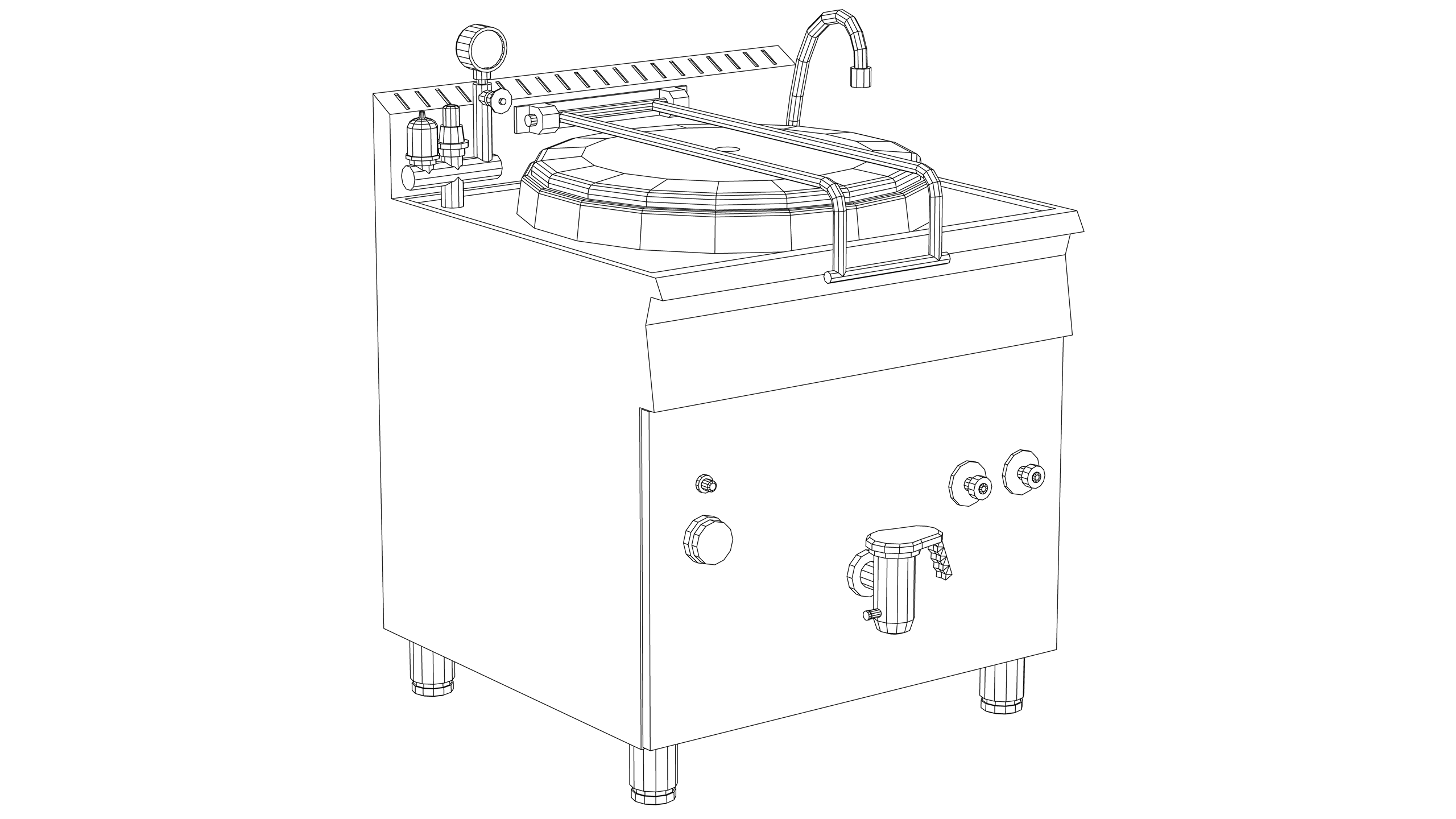 Vector Image: Deep Fat Fryer - Henny Penny