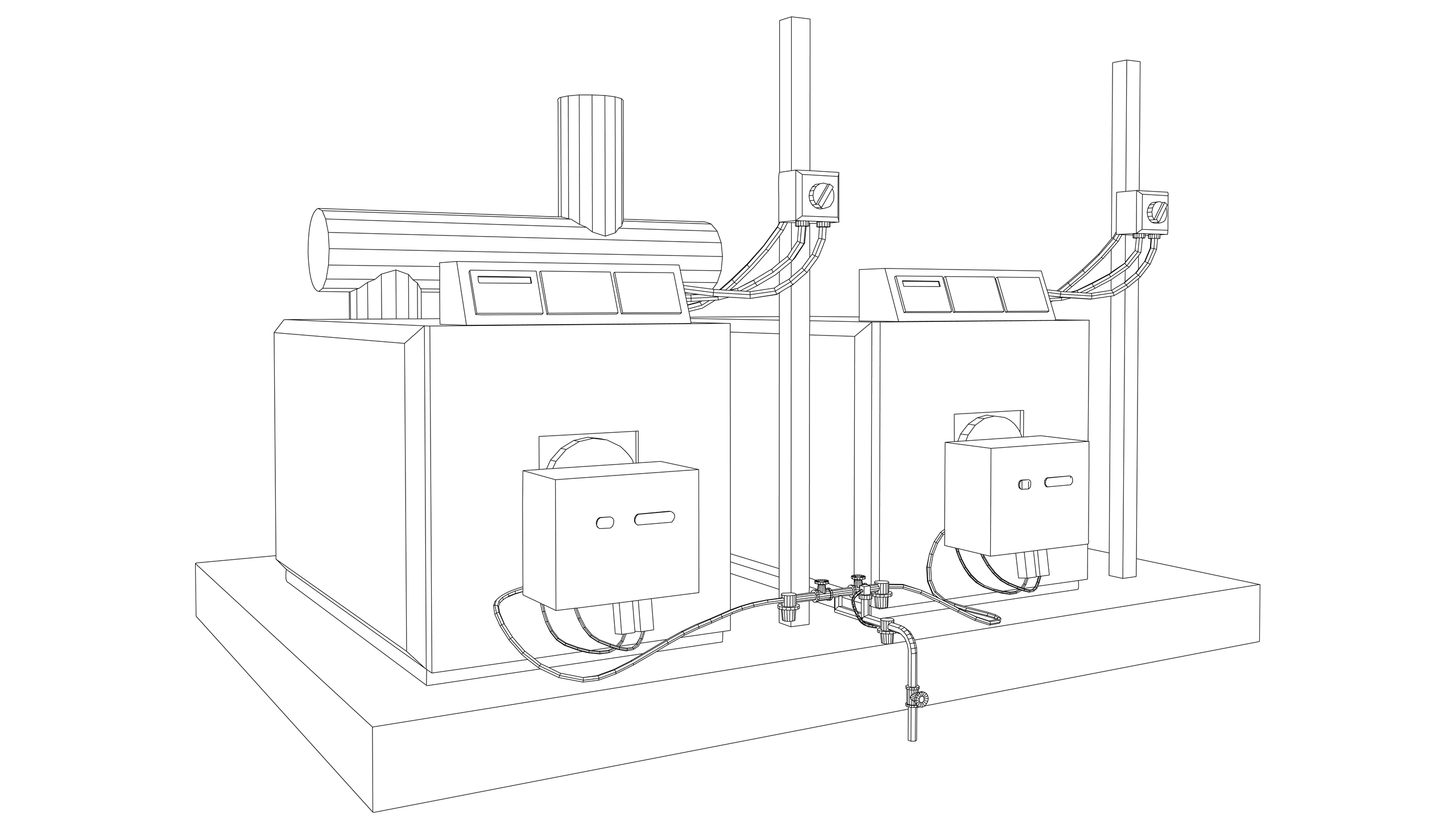 Vector Image: Pressurised Hot Water Boiler (Medium Temp)