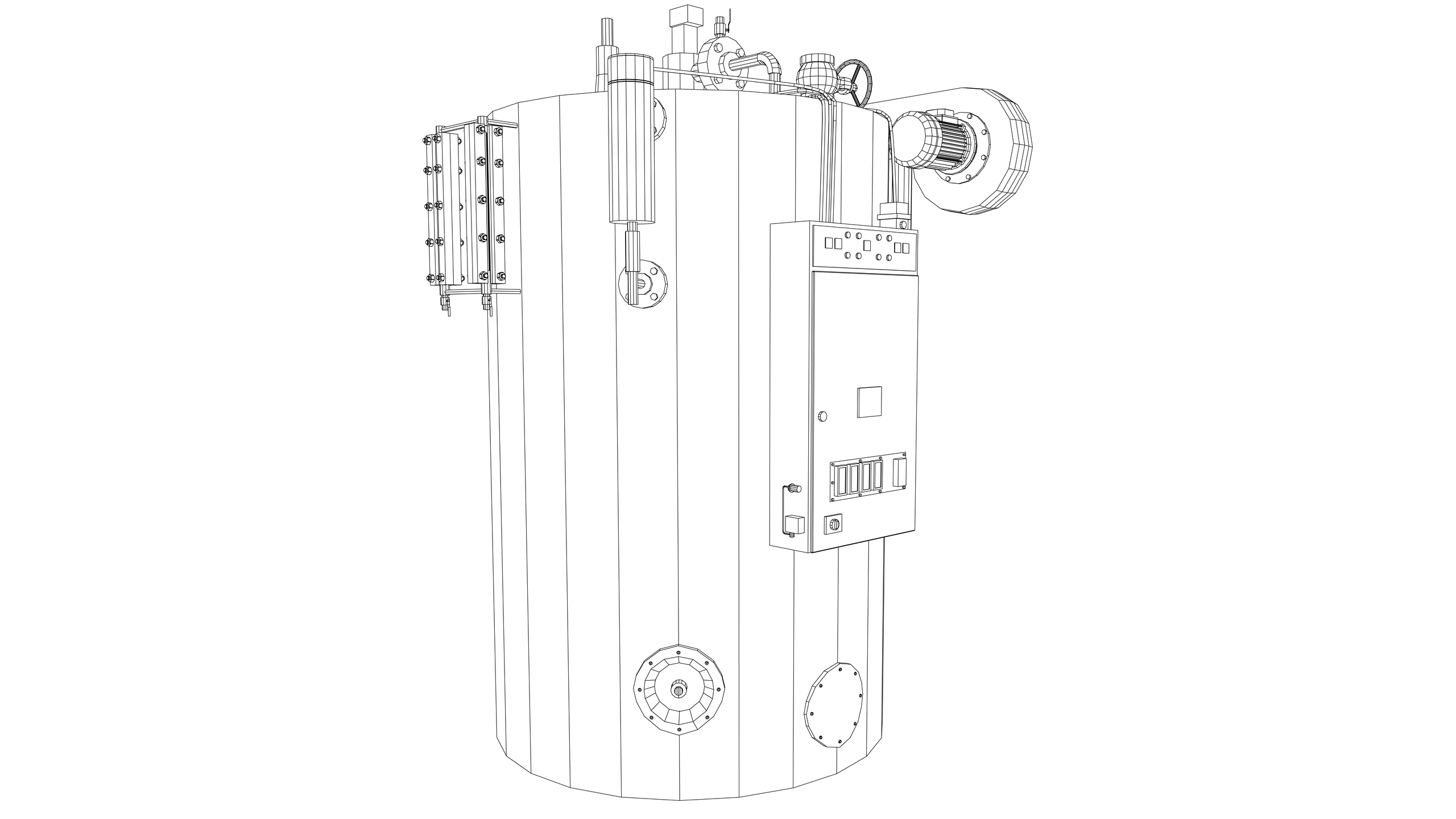 Vector Image: Vertical Steam Boiler
