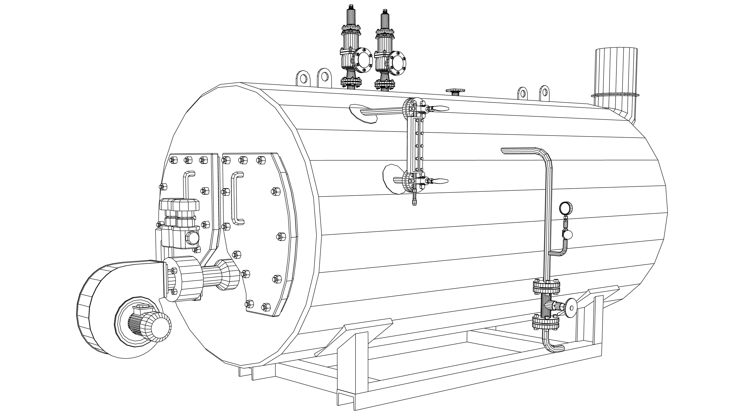 Vector Image: Wet Back Boiler