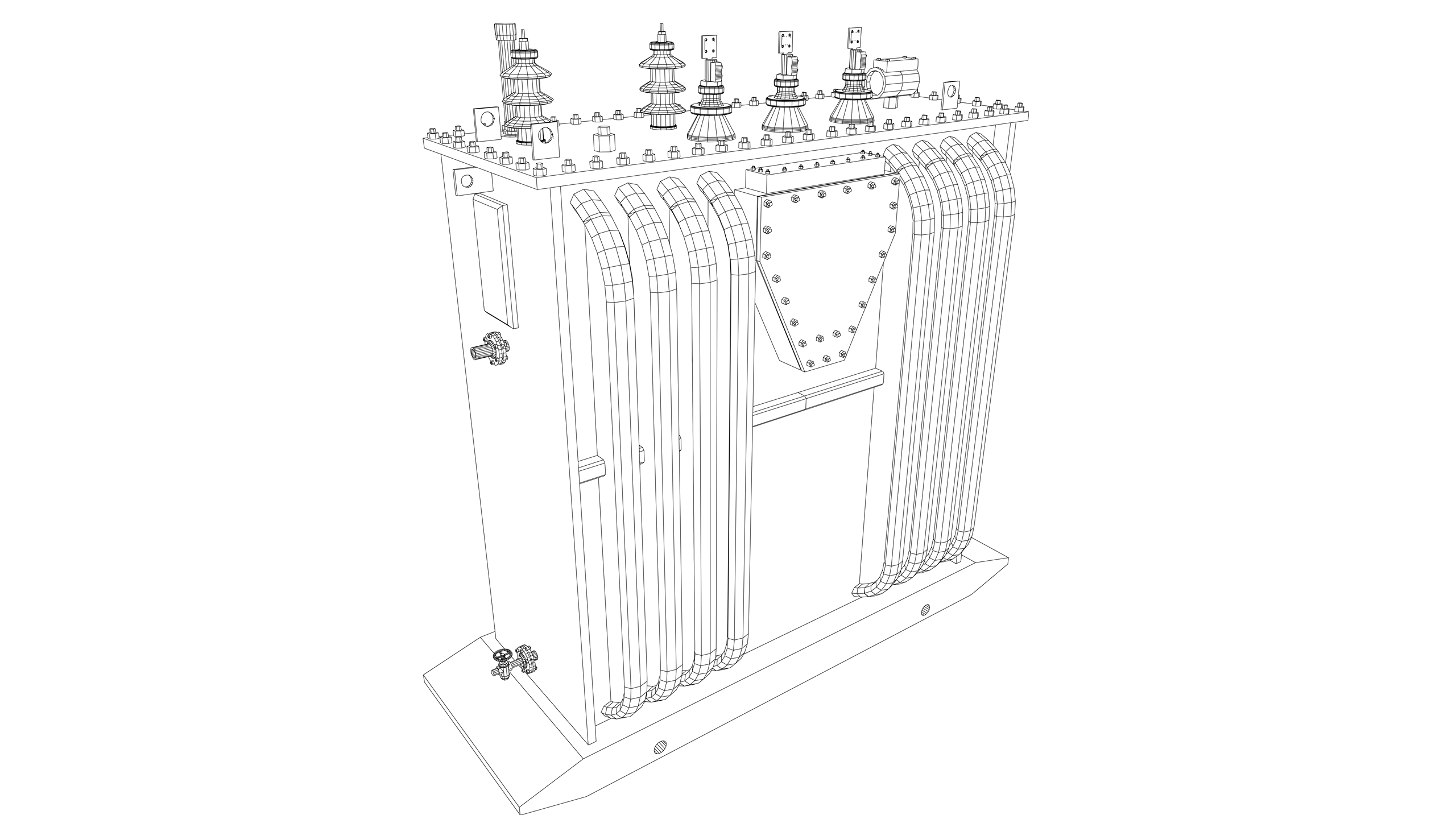 Vector Image: Electrical Power Transformer