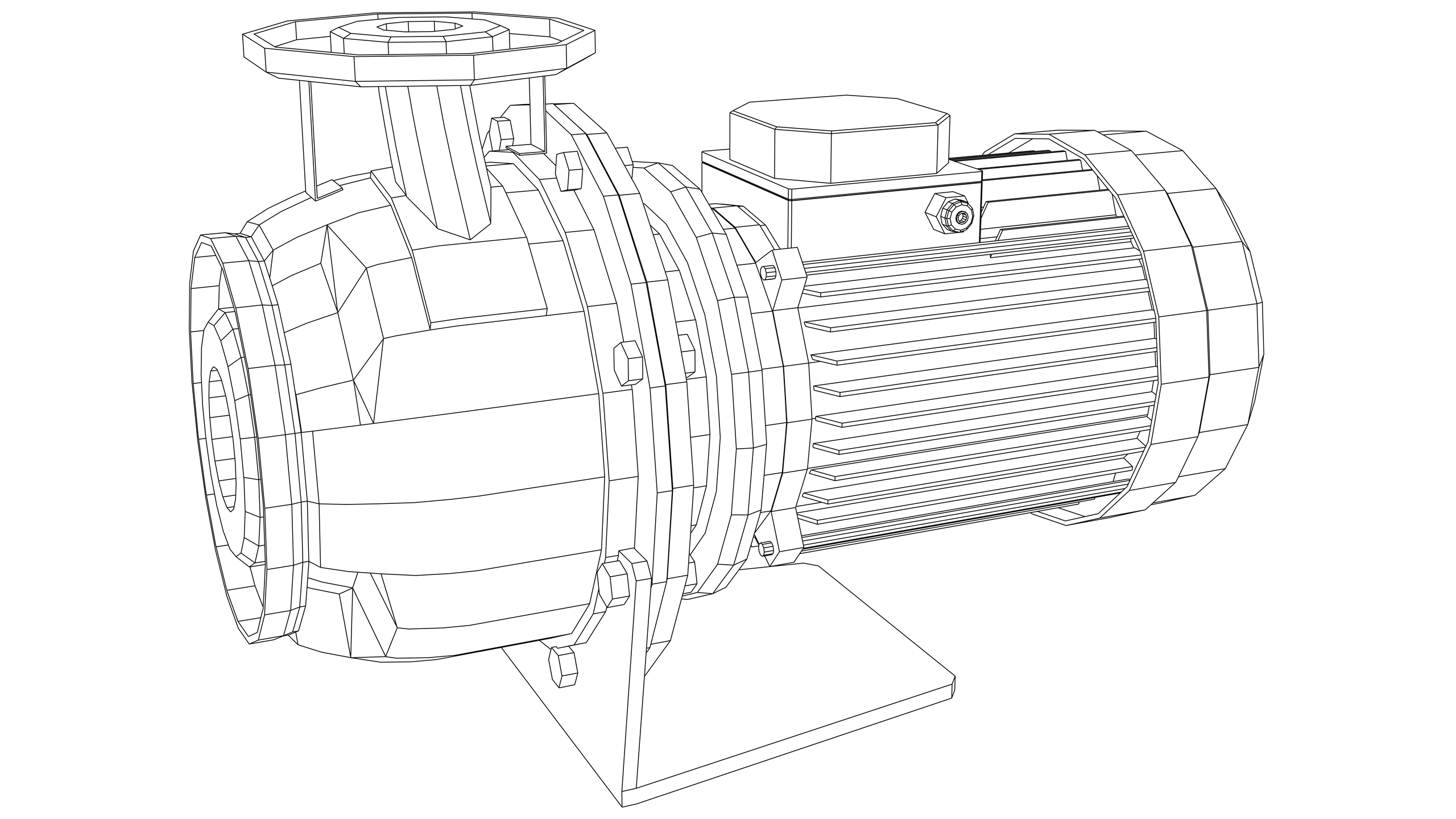 Vector Image: Pump - Centrifugal