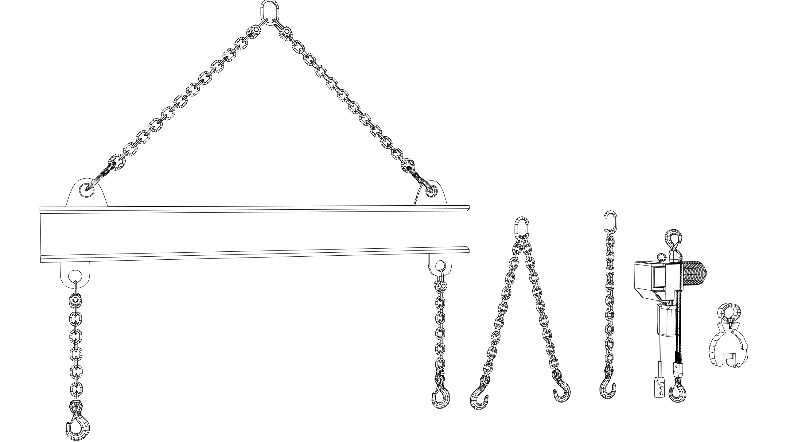 Vector Image: Accessories for lifting - lifting tackle