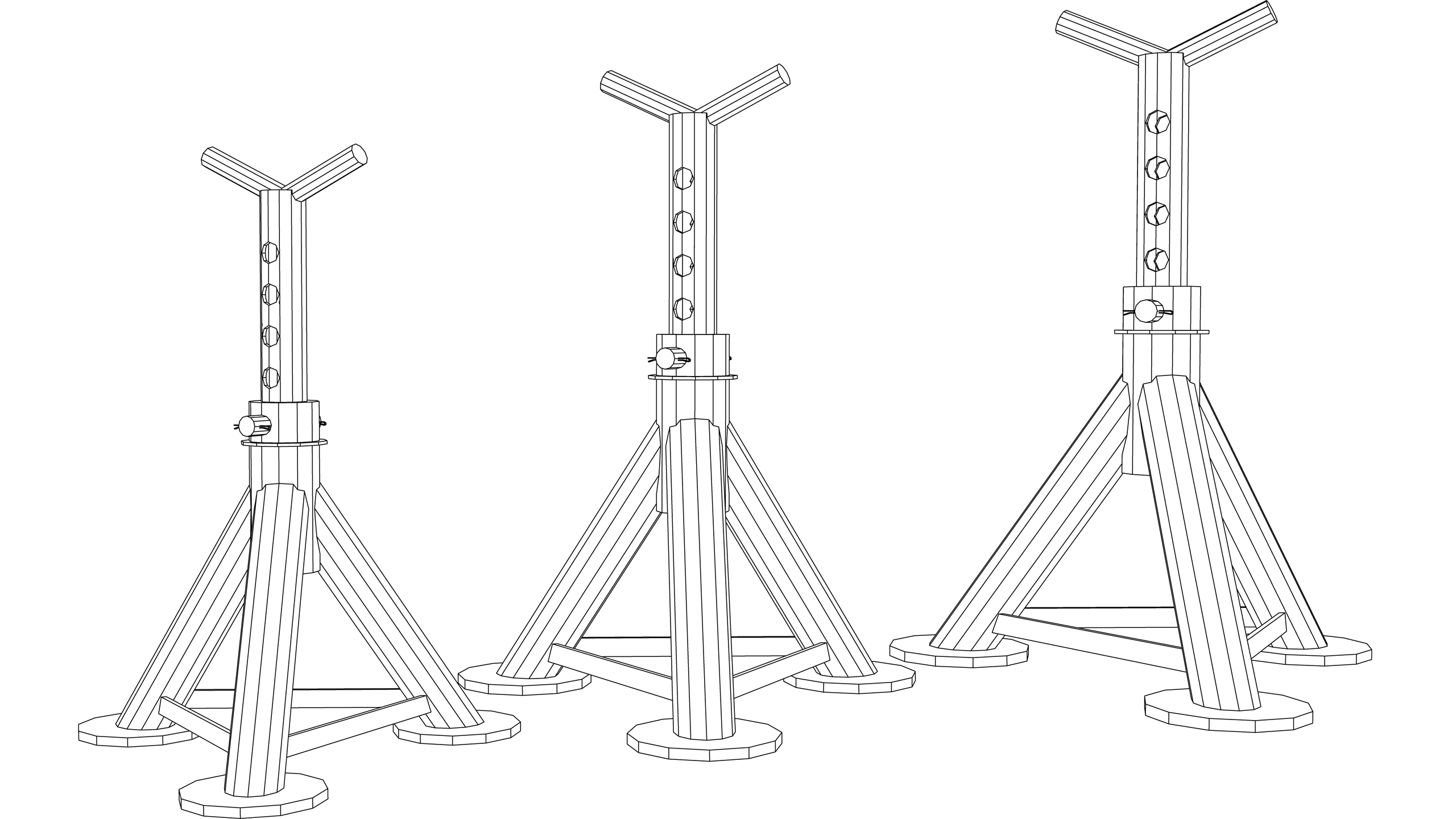 Vector Image: Axle Stands