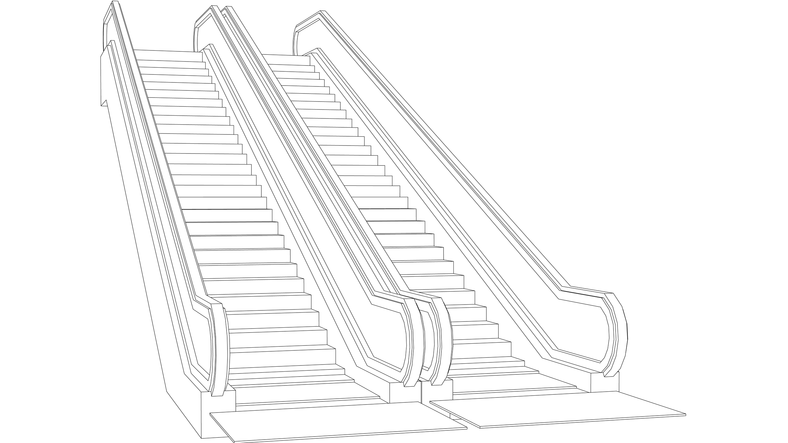 Vector Image: Escalators