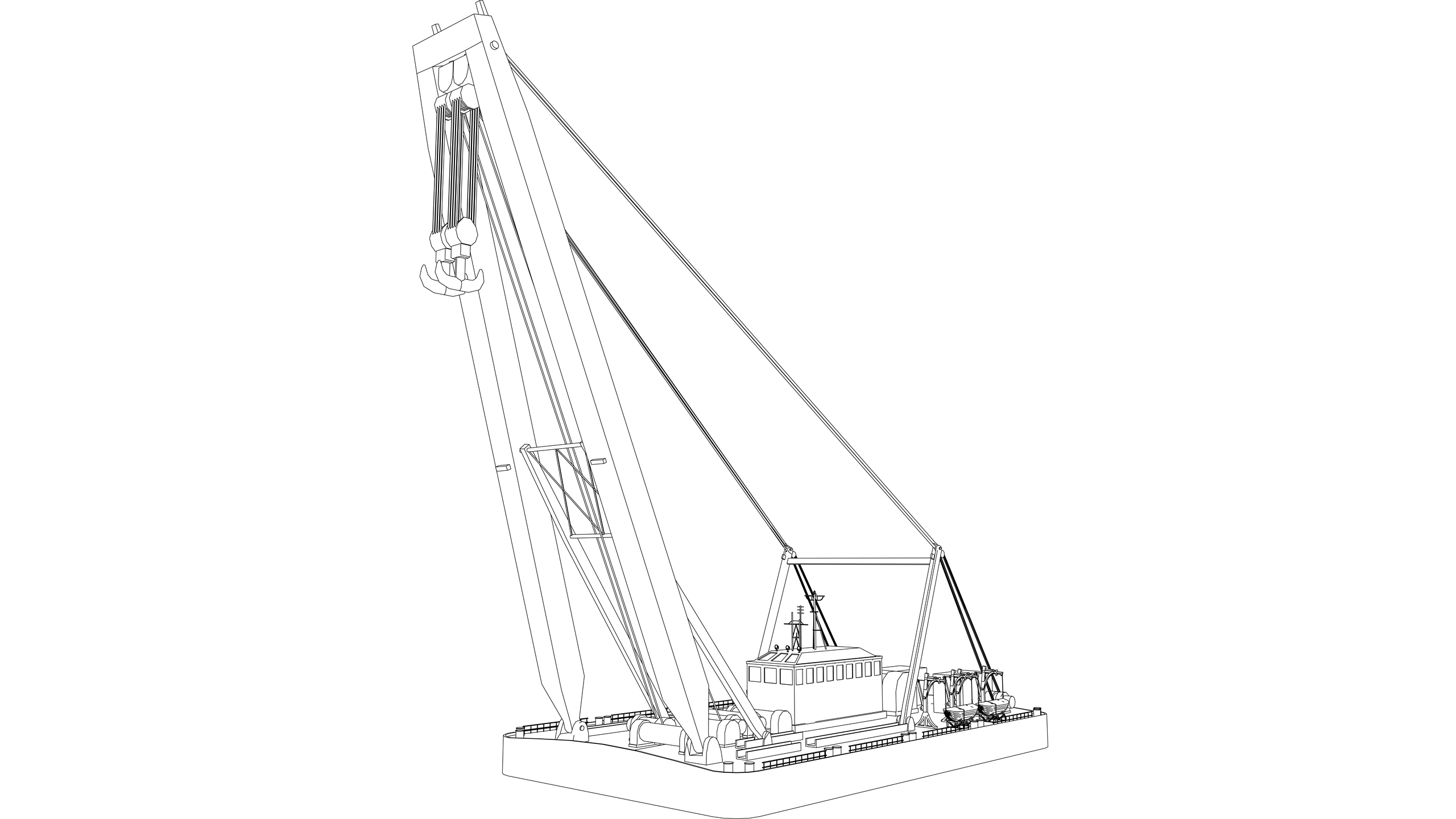 Vector Image: Floating Crane