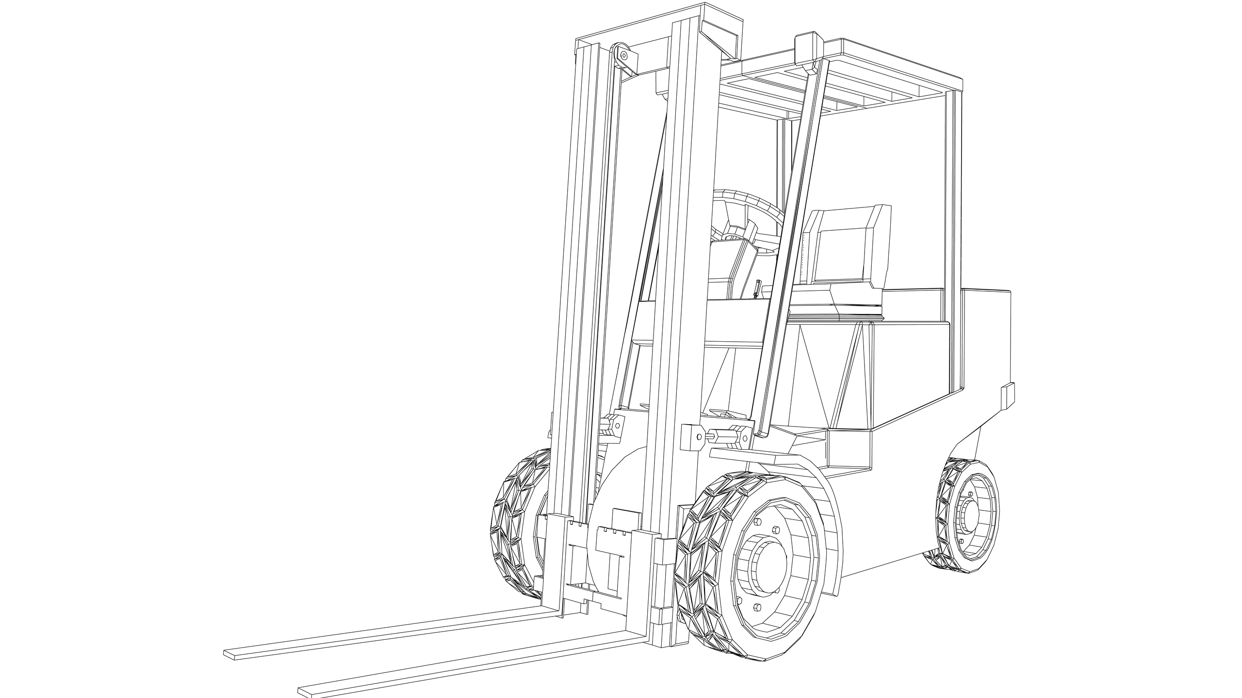 Vector Image: Fork Lift Truck (Counterbalanced)