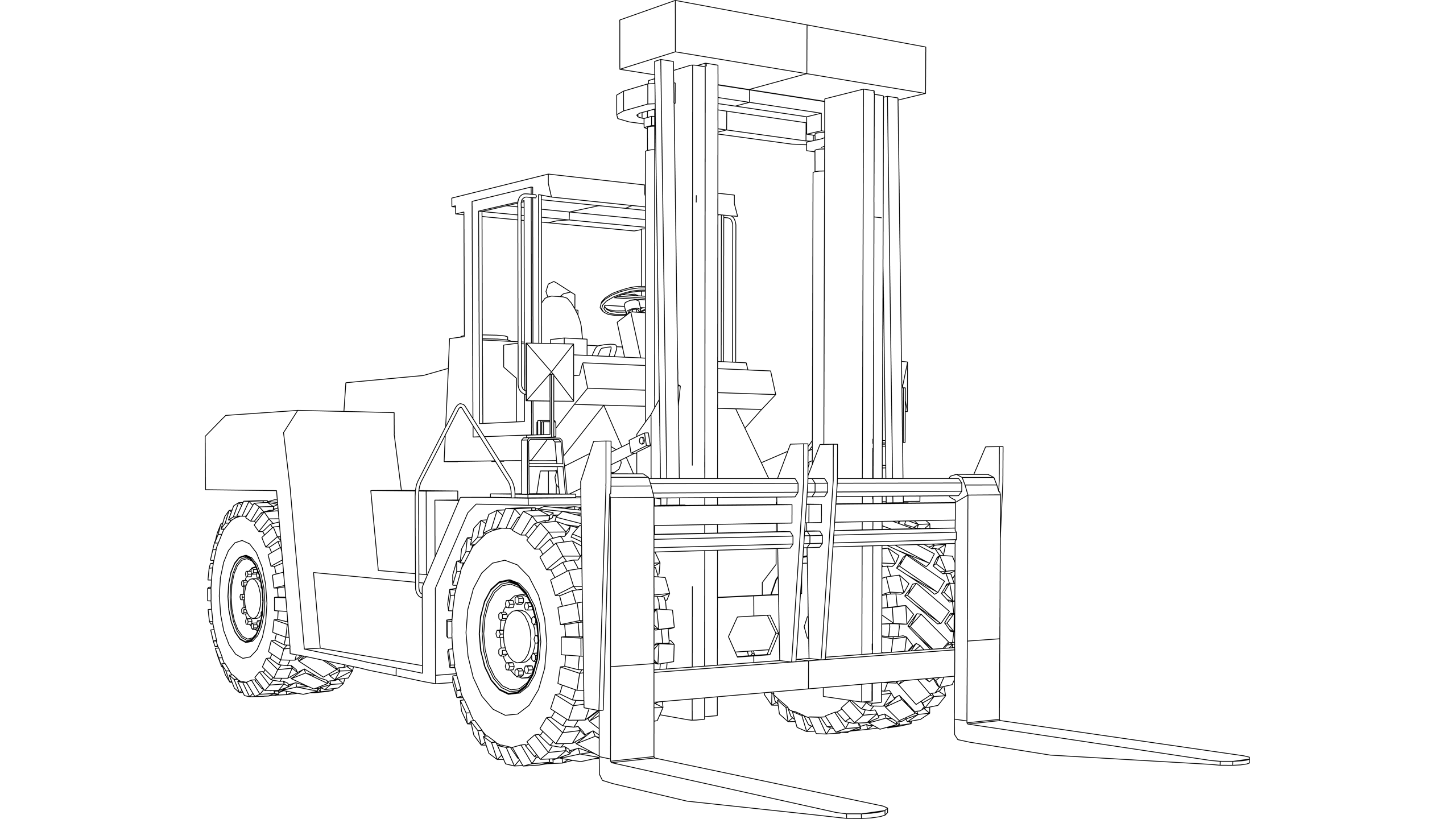 Vector: Fork Lift Truck - Rough Terrain