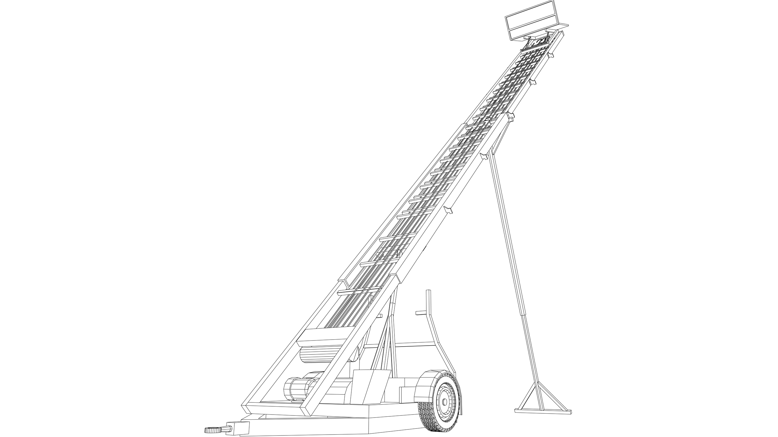 Vector Image: Inclined Hoist