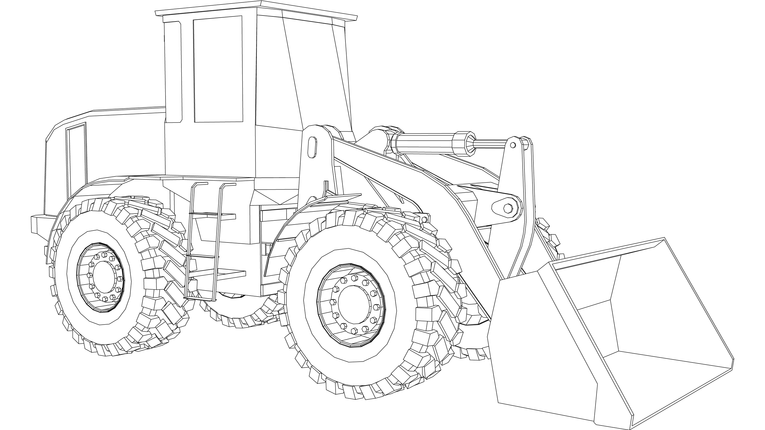 Vector Image: Loading Shovel
