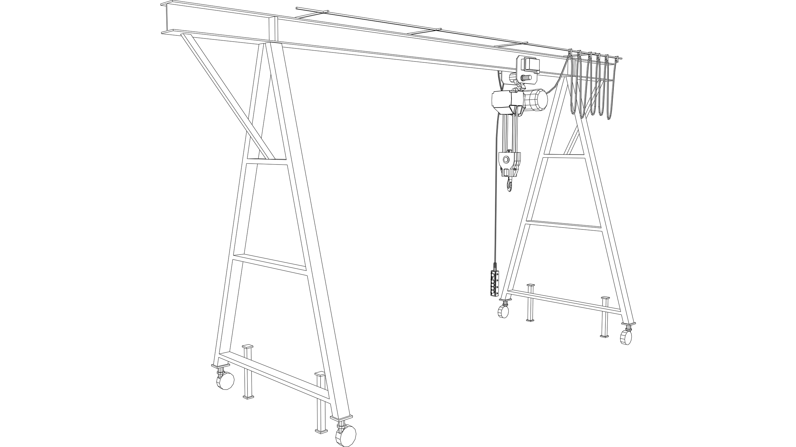 Vector Image: Manual Gantry Crane