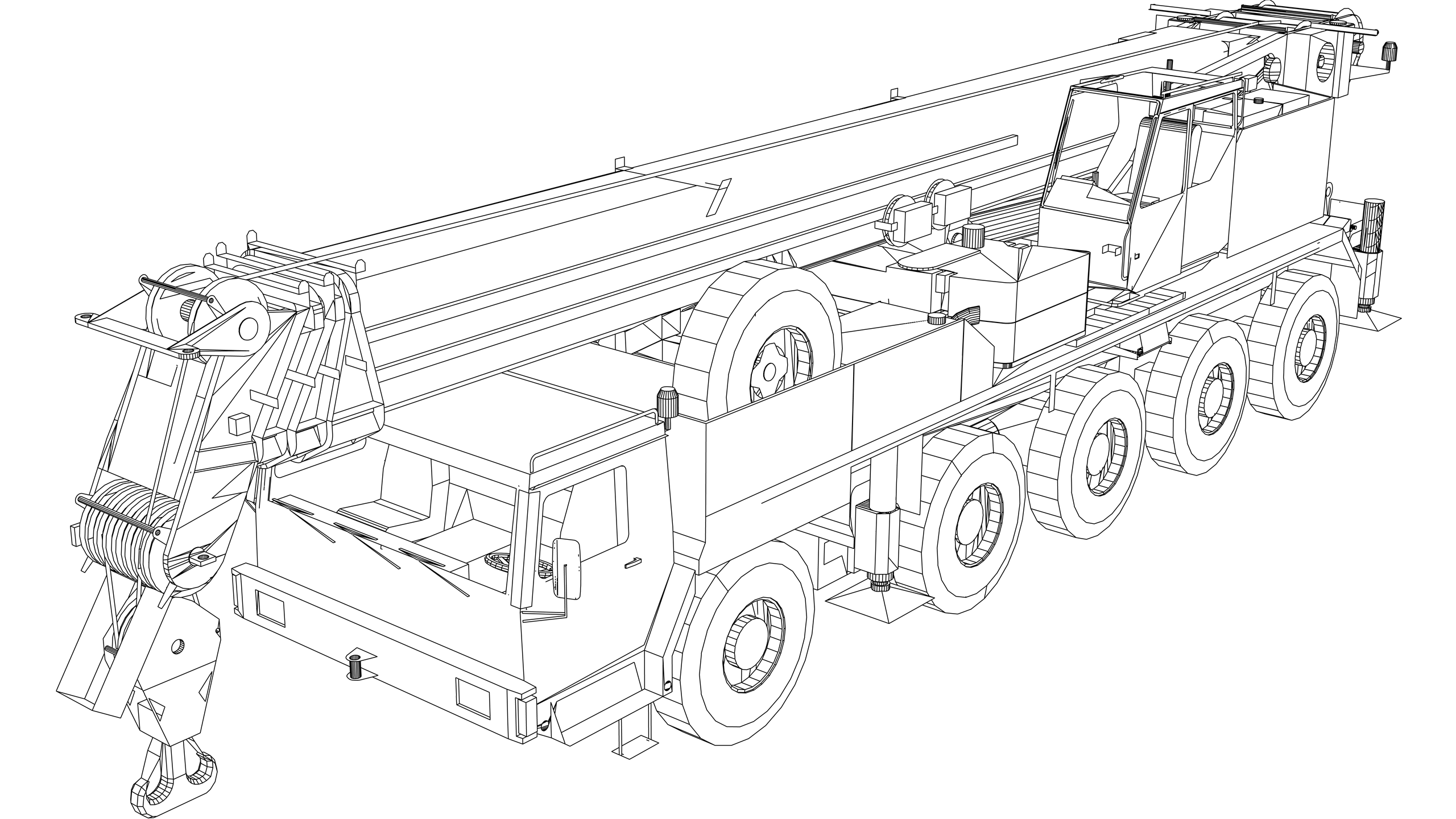 Vector Image: Mobile Crane