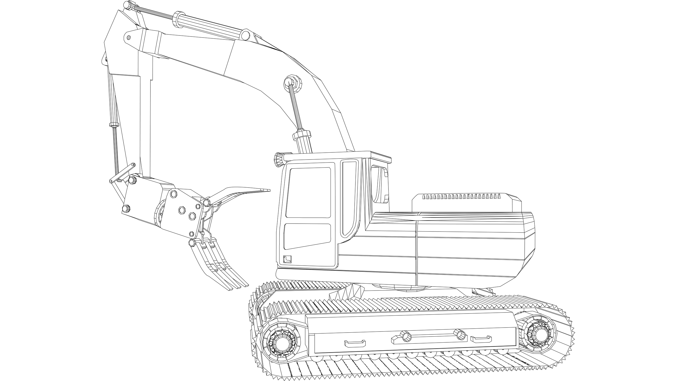 Vector Image: Mobile Crane with Grab