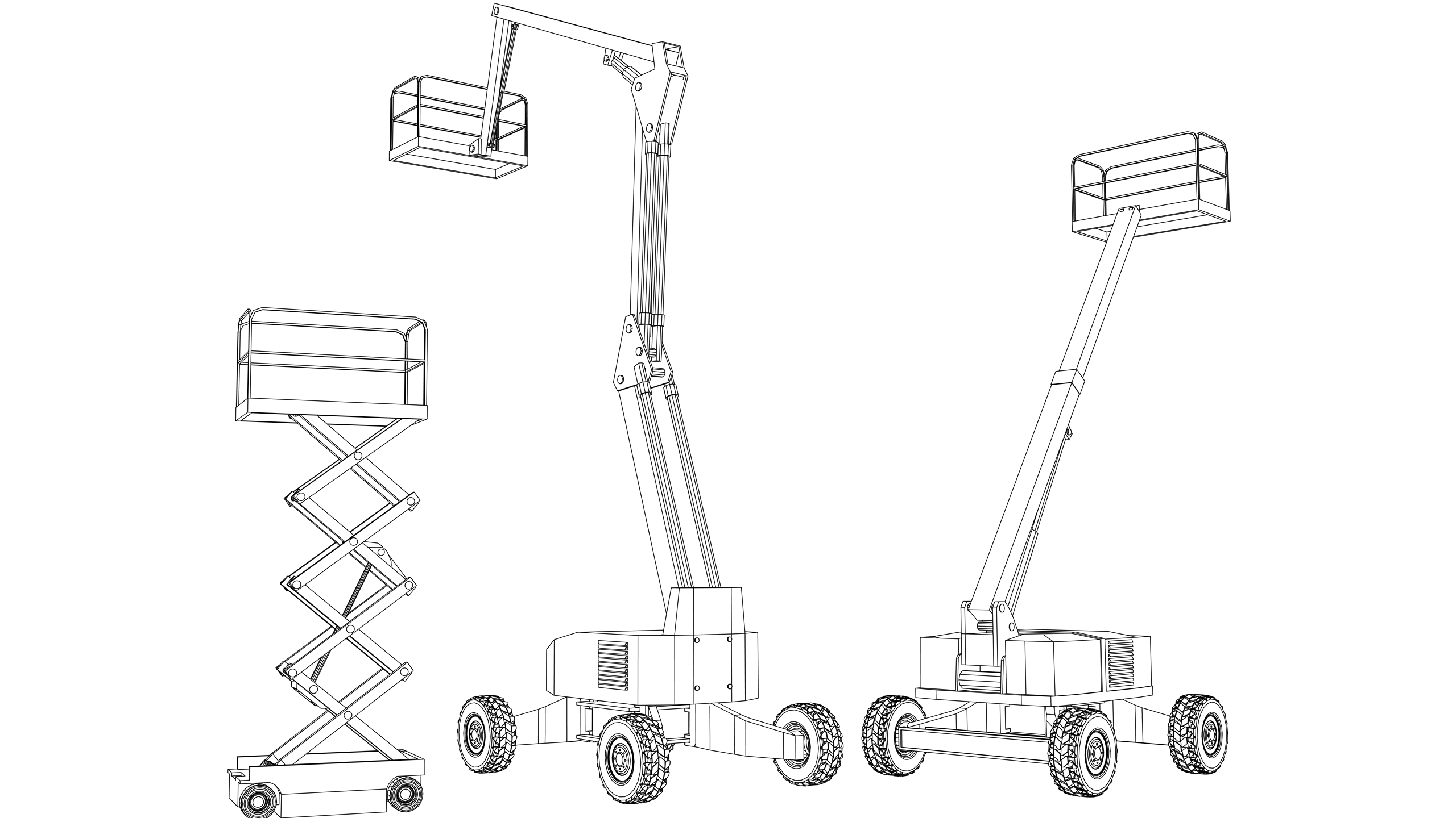 Vector Image: Mobile Elevating Working Platform