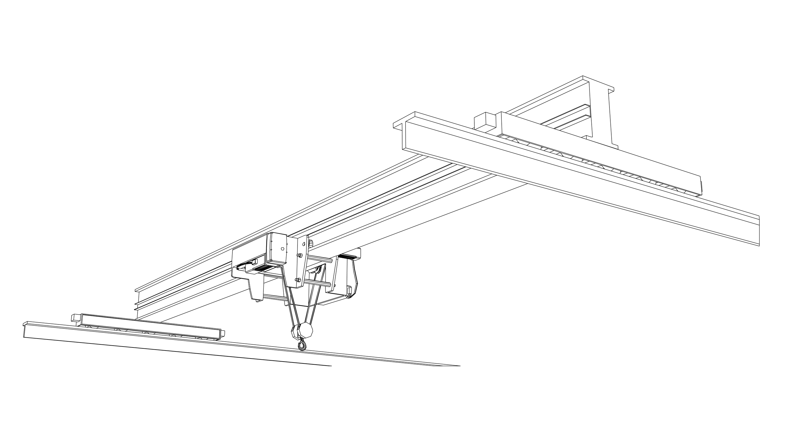 Vector Image: Overhead Travelling Crane (Electric)