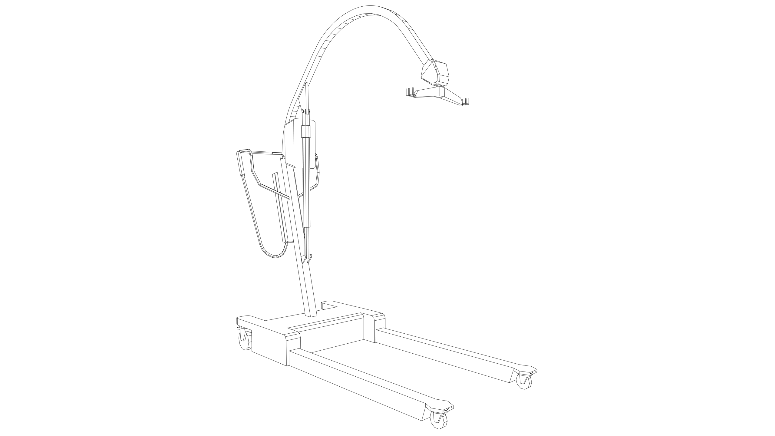 Vector Image: Patient Hoist