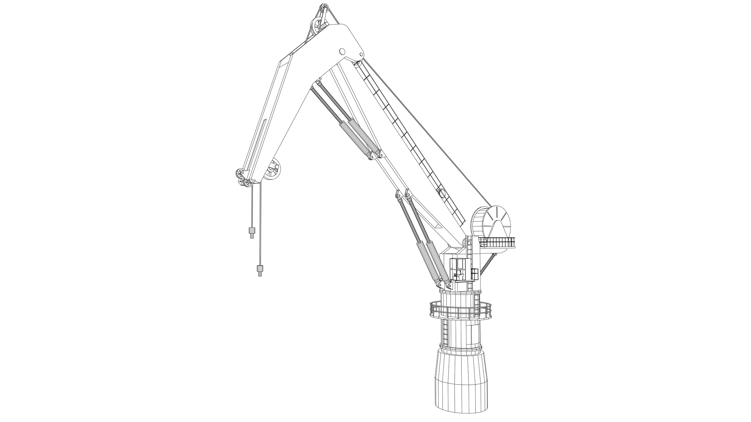 Vector Image: Pedestal Crane (Electric)