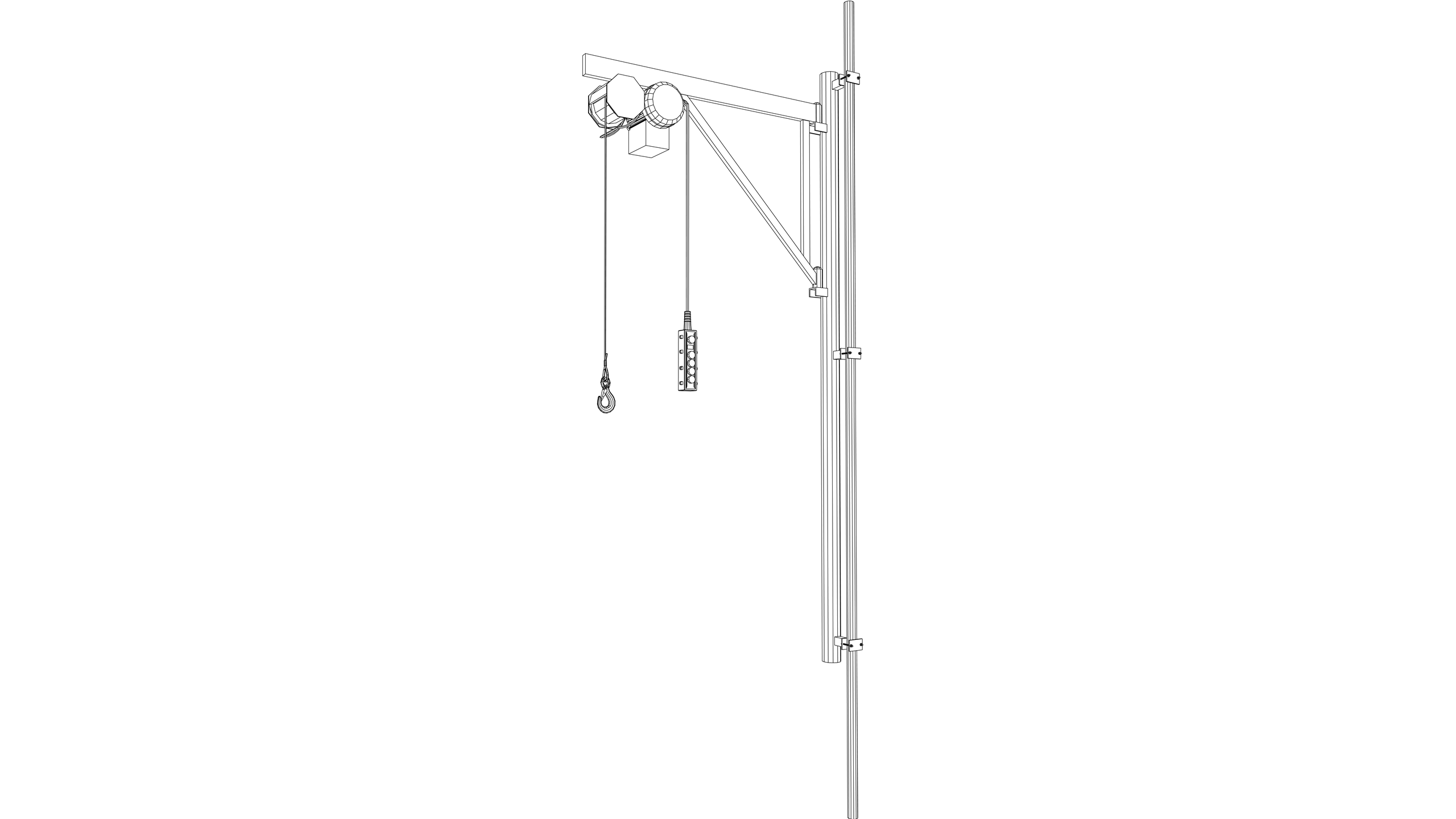 Vector Image: Scaffold Jib Crane
