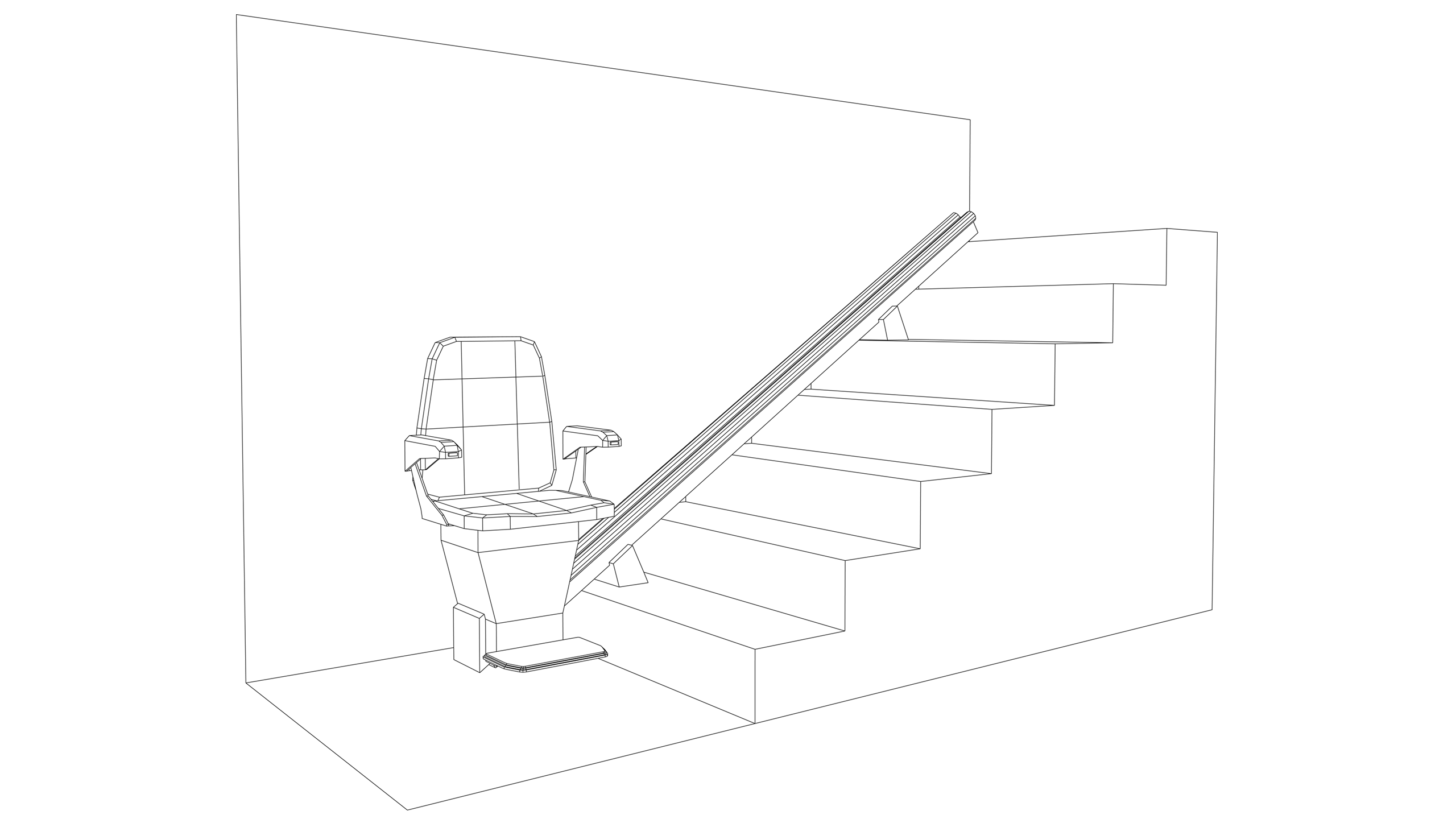 Vector image: Stairlift