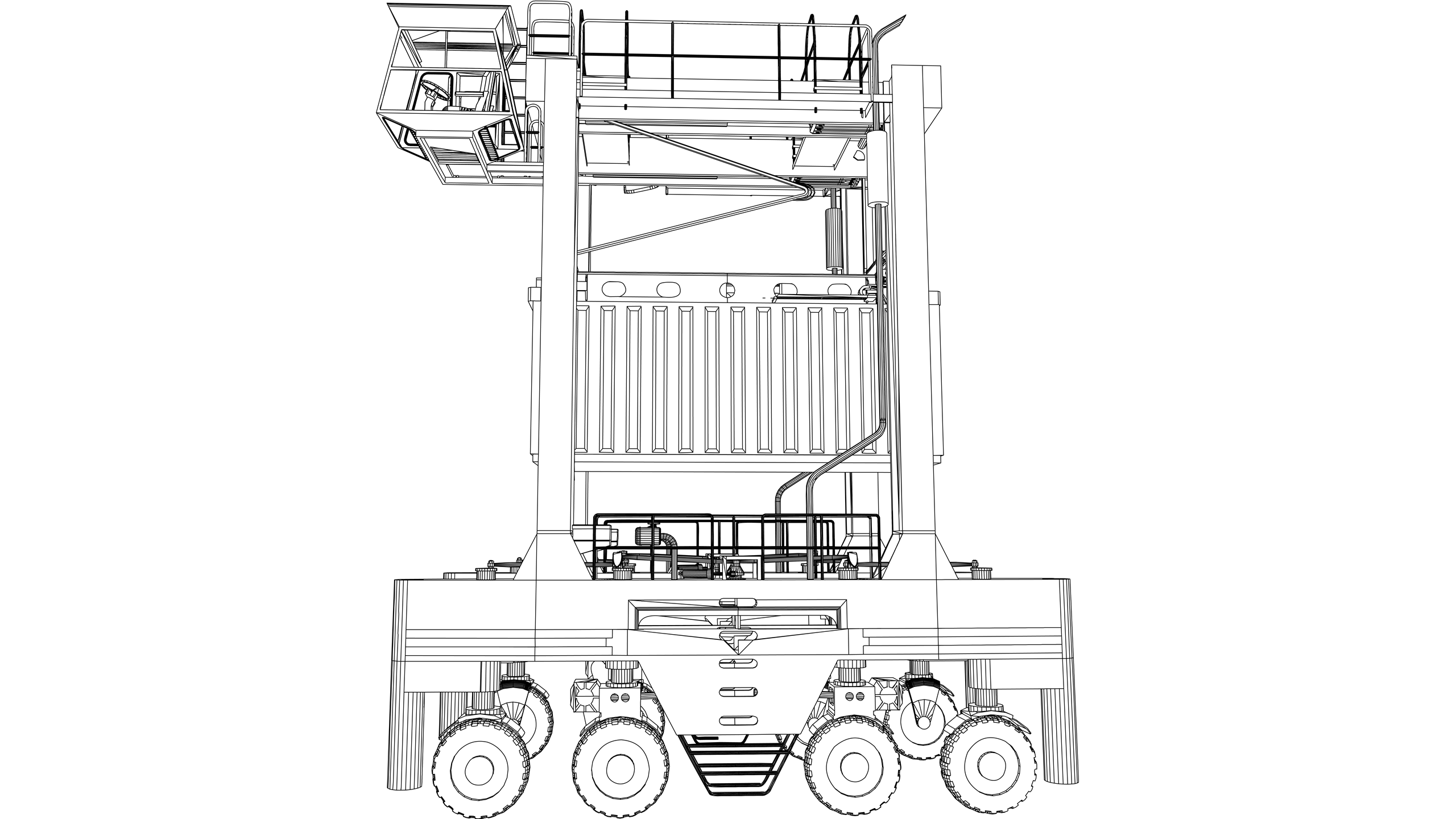 Vector image: Straddle Carrier