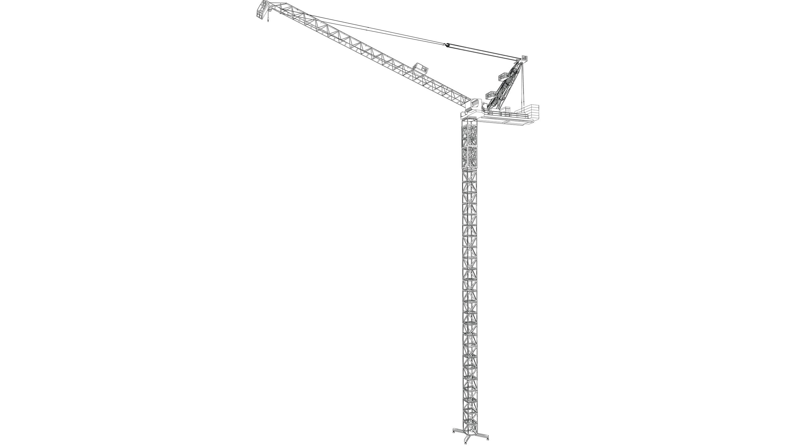 Vector image: Tower Crane (Luffing)
