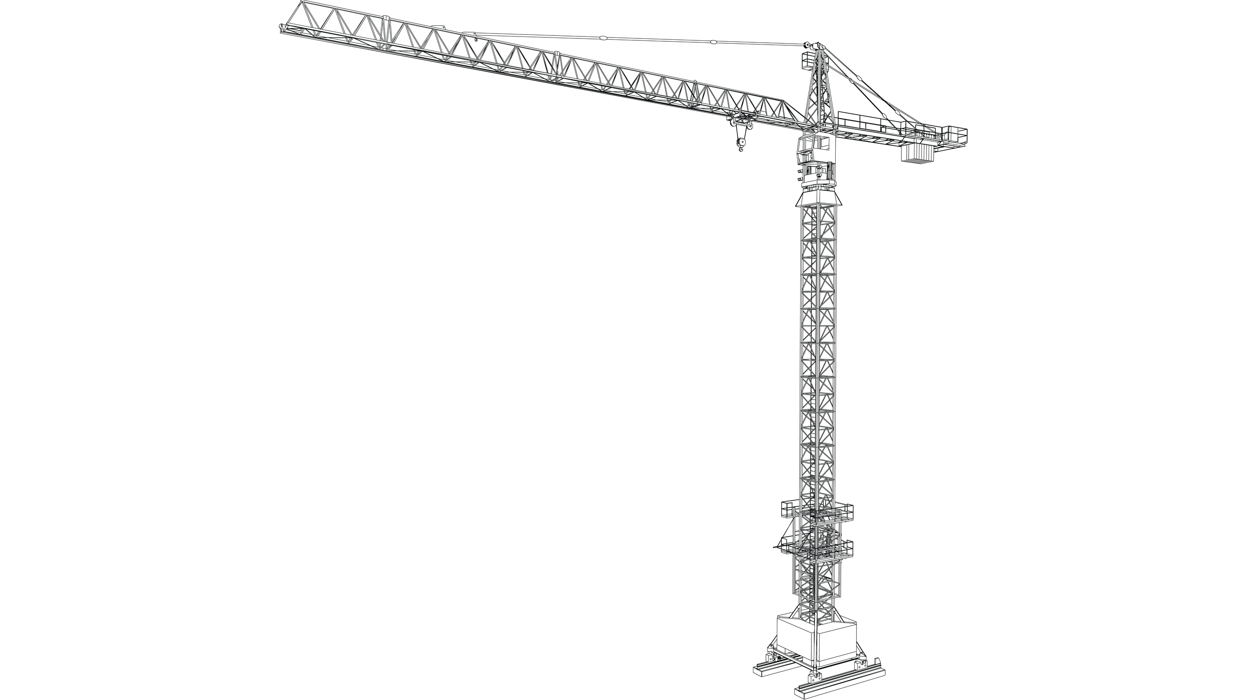 Vector image: Tower Crane (Saddle Jib)