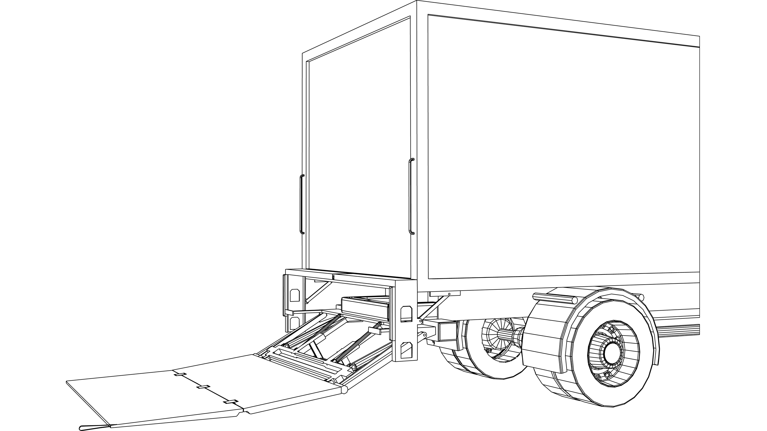 Vector image: Vehicle Tailboard Lifts