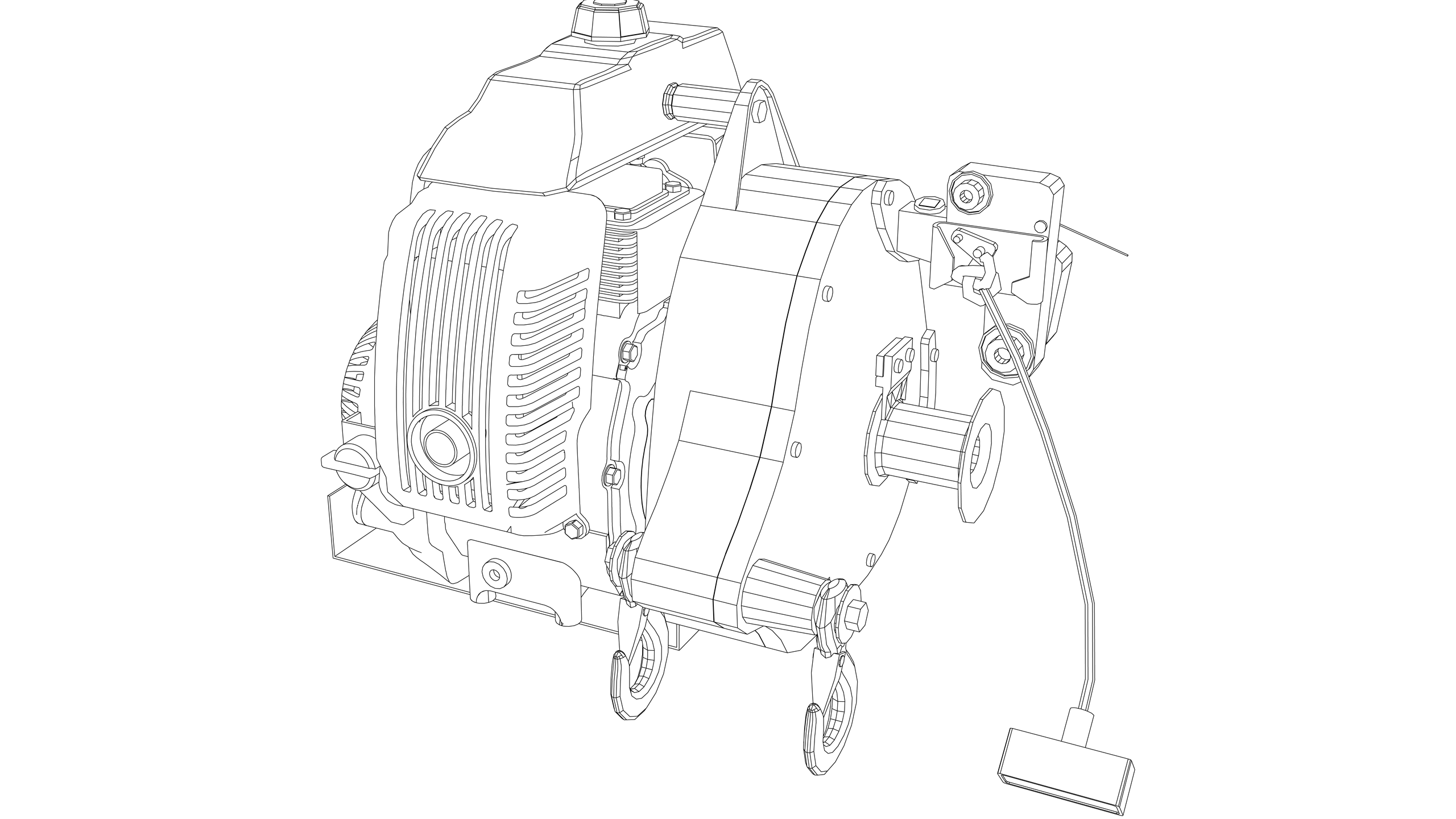 Vector Image: Winch - Powered (Petrol)