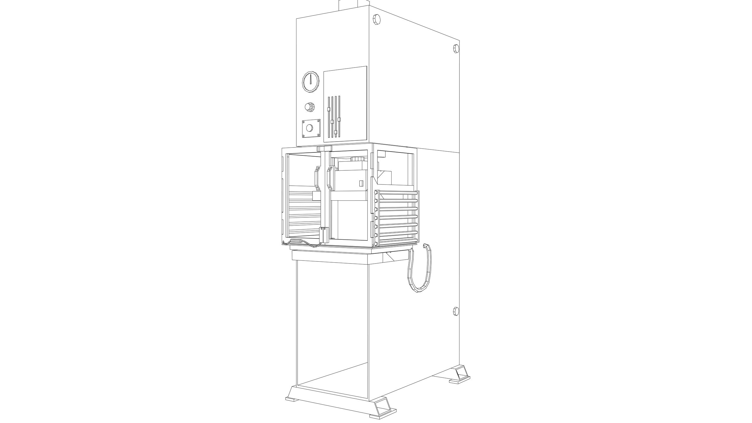 Vector Image: Hydraulic Press (Interlocking Guards)