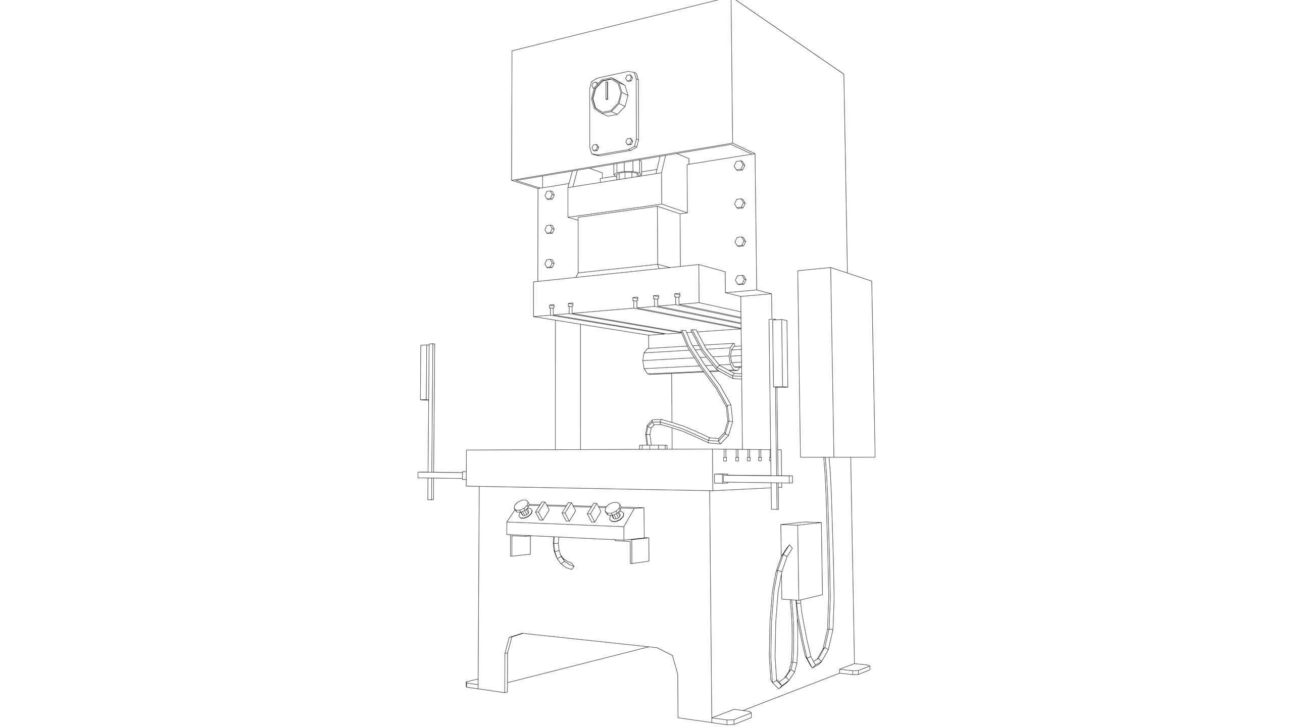 Vector Image: Pneumatic Press