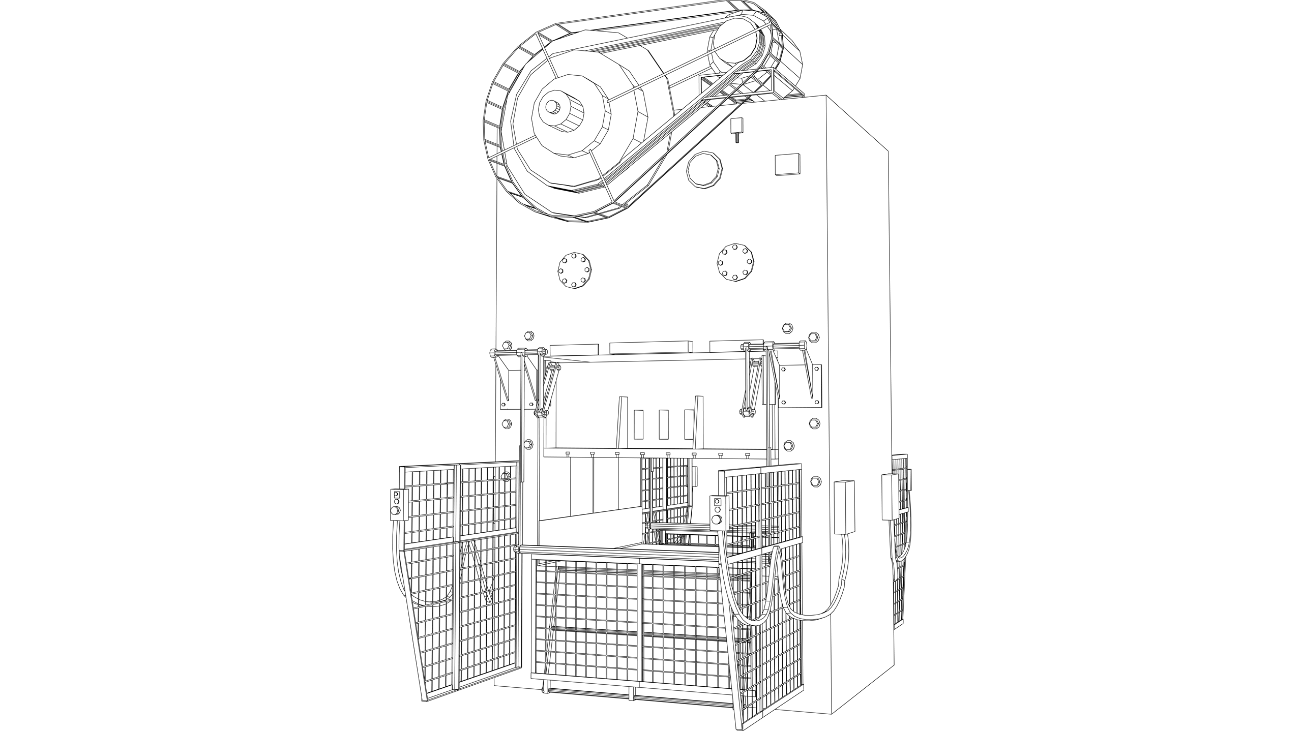 Vector Image: Power Press (Electric - Automatic Guard)