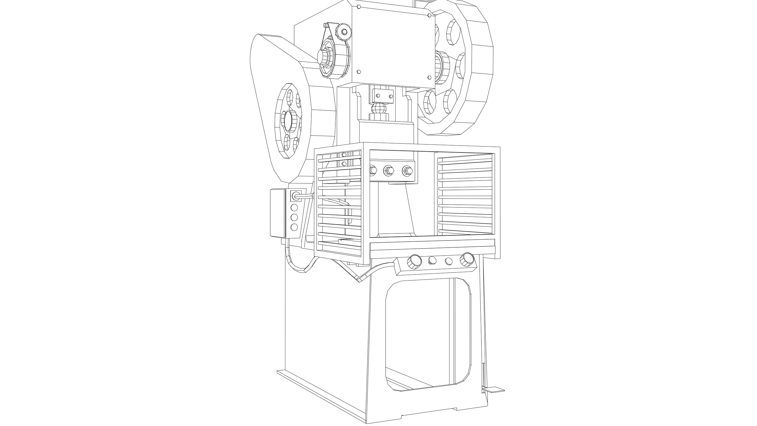 Vector Image: Power Press (Electric - Fixed Guard)