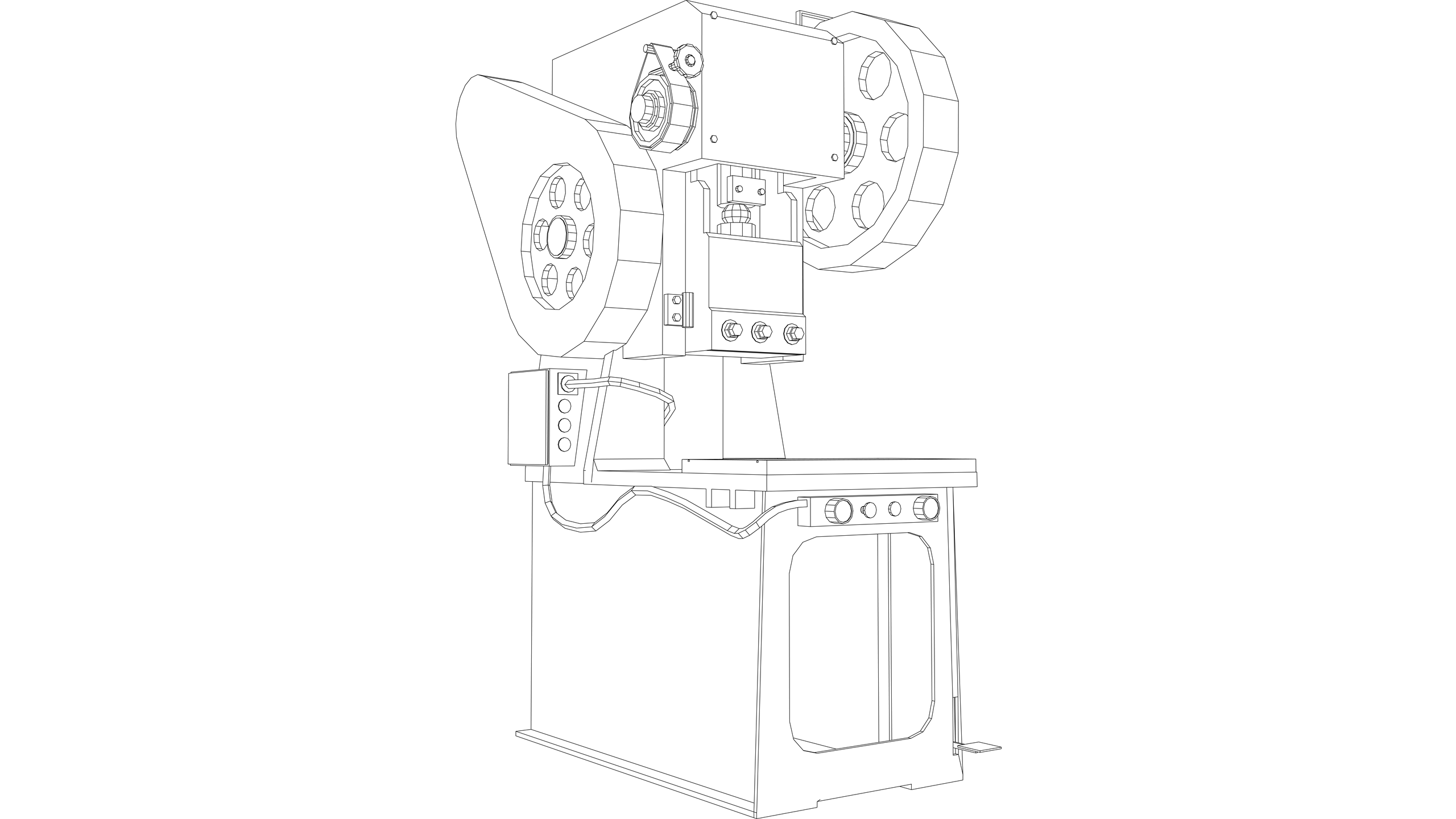 Vector Image: Power Press (Electric with enclosed tool)