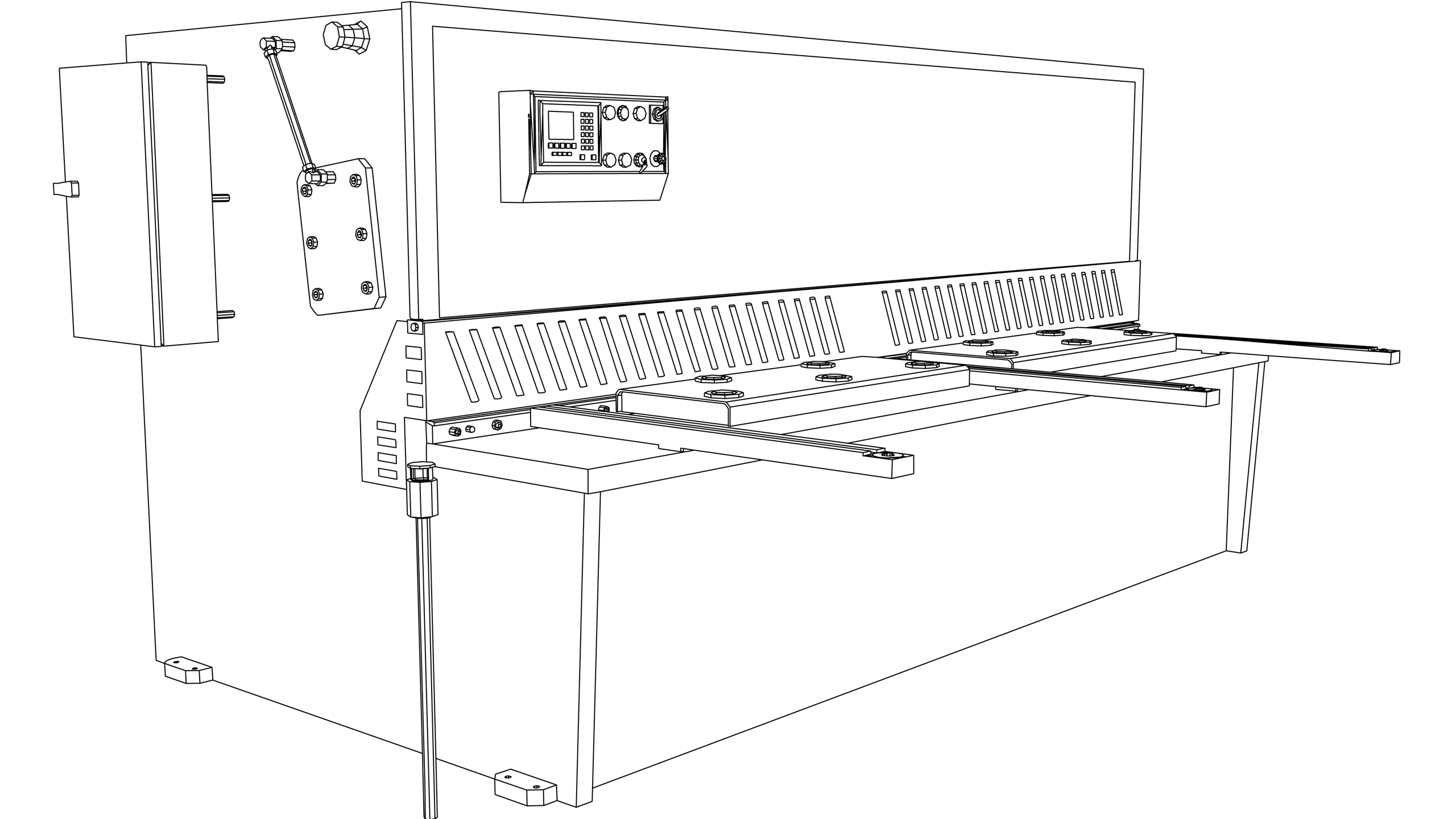 Vector Image: Press Brake (Electric - Distance Bar Trip Guard)