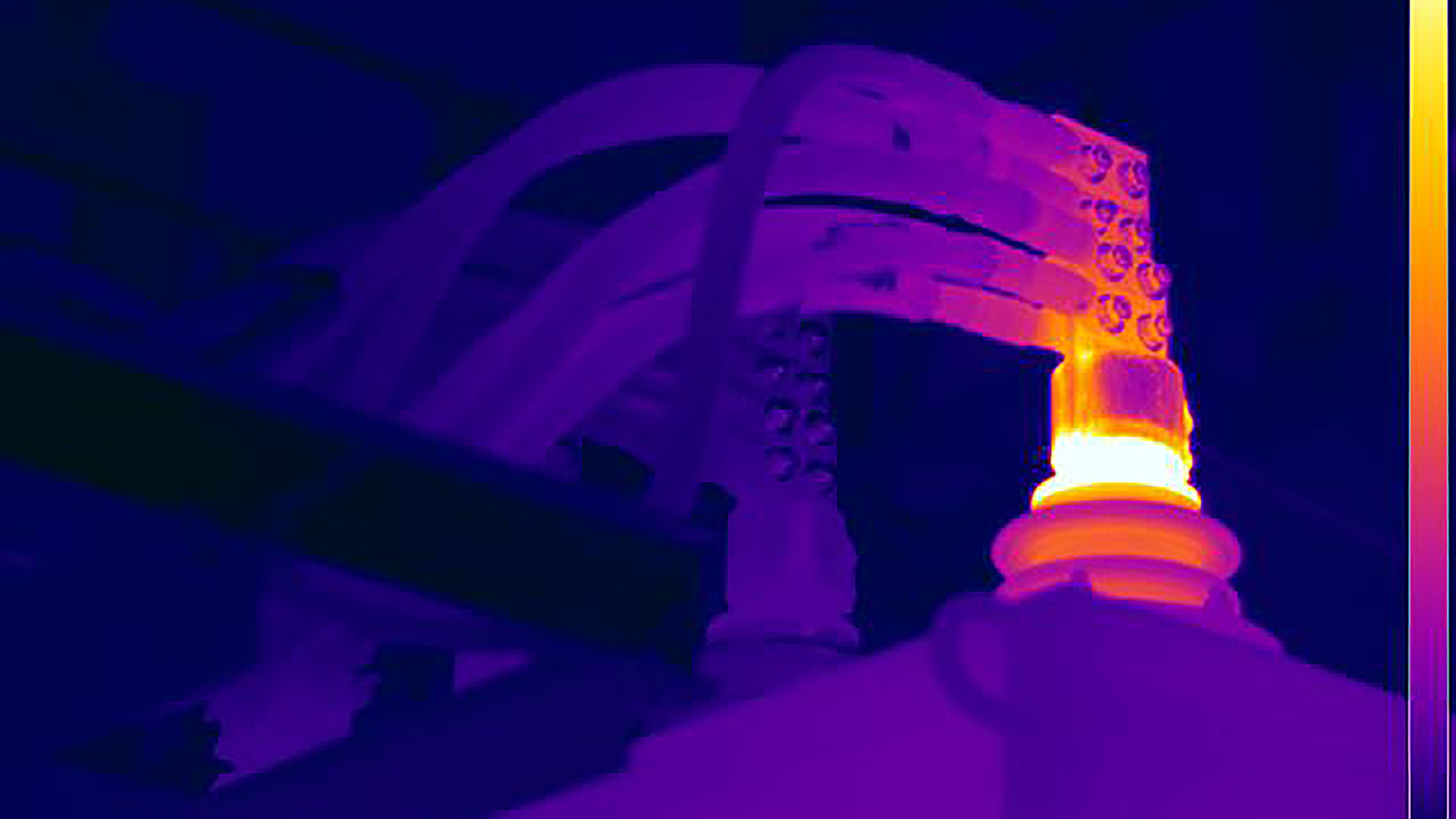 Transformer bushing - HSB thermography example