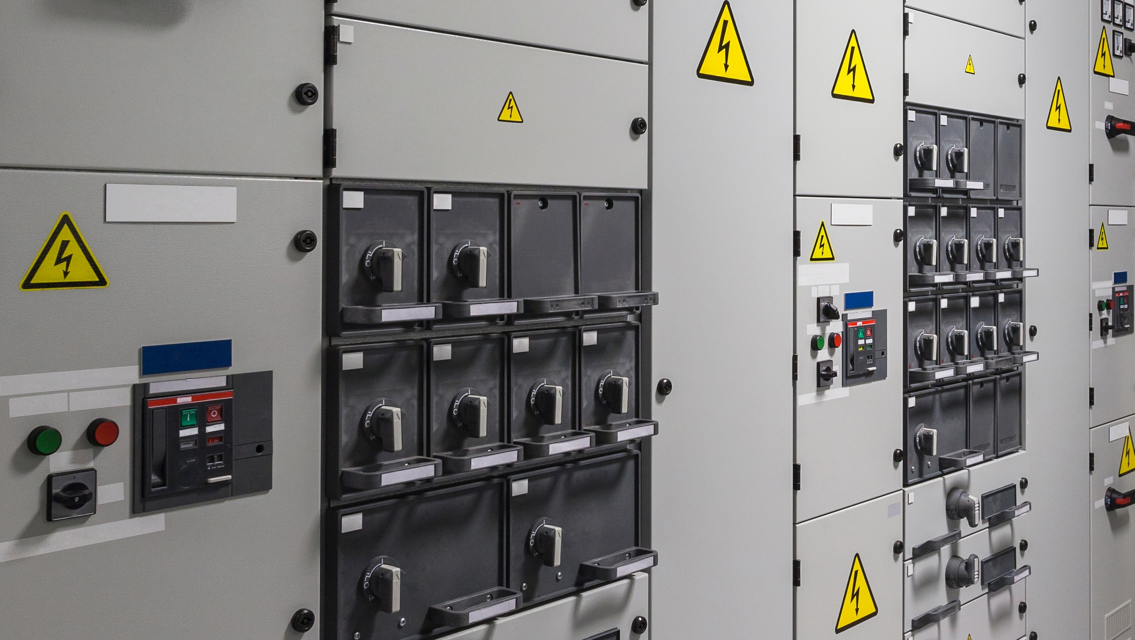 Industrial electrical switch panel in power station