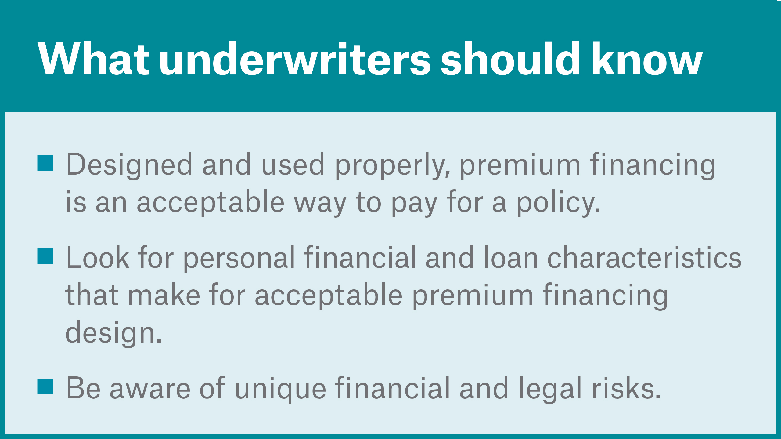What underwriters should know image