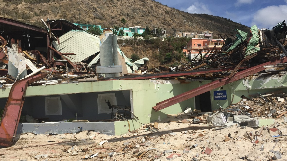 Hurricane Maria also caused severe damages on the island St. Maarten