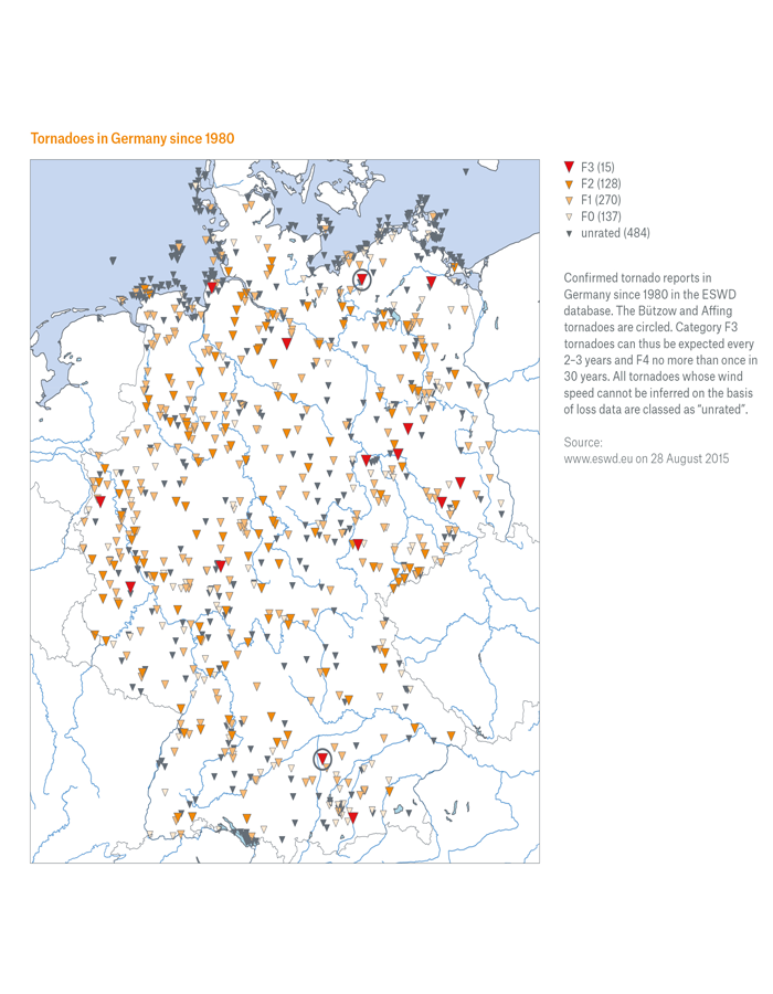 Tornadoes in Germany are more common than you might think, although they rarely cause any great damage. However, two storms in 2015 were so strong that not even solid stone walls were able to withstand their power.