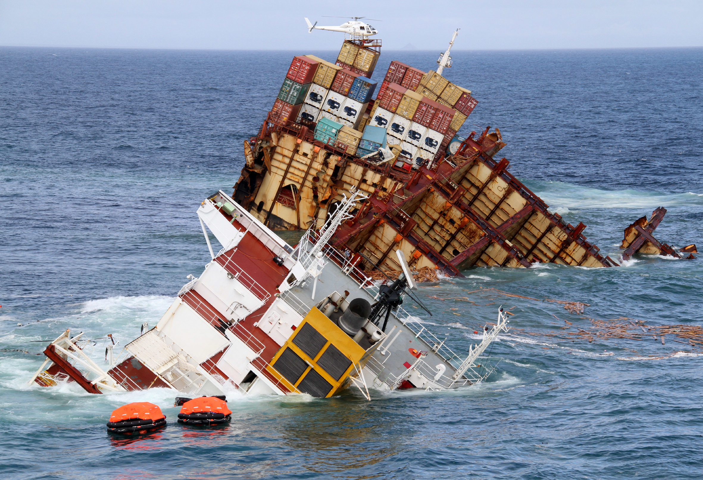 On 4 October 2011, the Rena was sailing from Napier to Tauranga, New Zealand, when it ran aground on the Astrolabe Reef in the Bay of Plenty. The reef seriously damaged the vessel's hull. Its cargo comprised 1,368 containers with wood, machine components, dairy, fish and meat products, as well as 11 containers with hazardous materials.